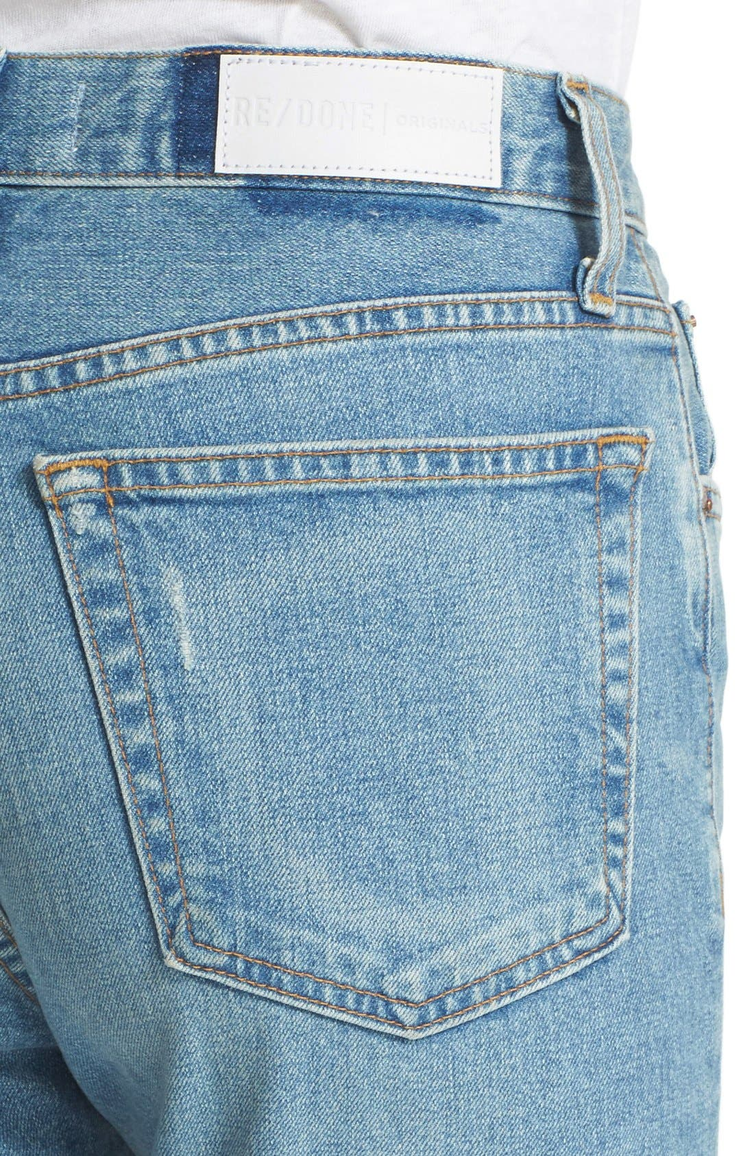Originals High Rise Stretch Jeans,                             Alternate thumbnail 3, color,                             400