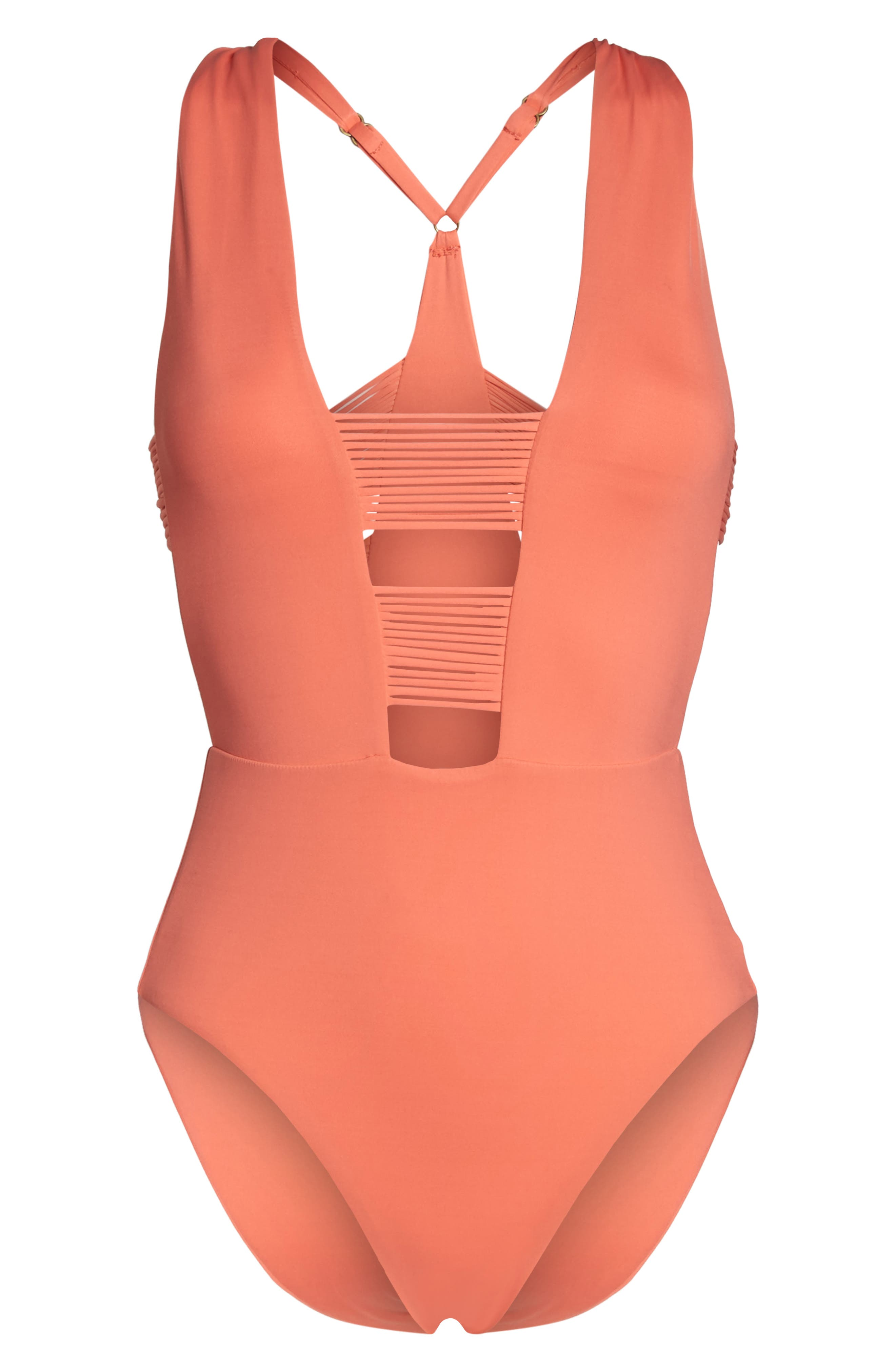 Beach Solids One-Piece Swimsuit,                             Alternate thumbnail 18, color,