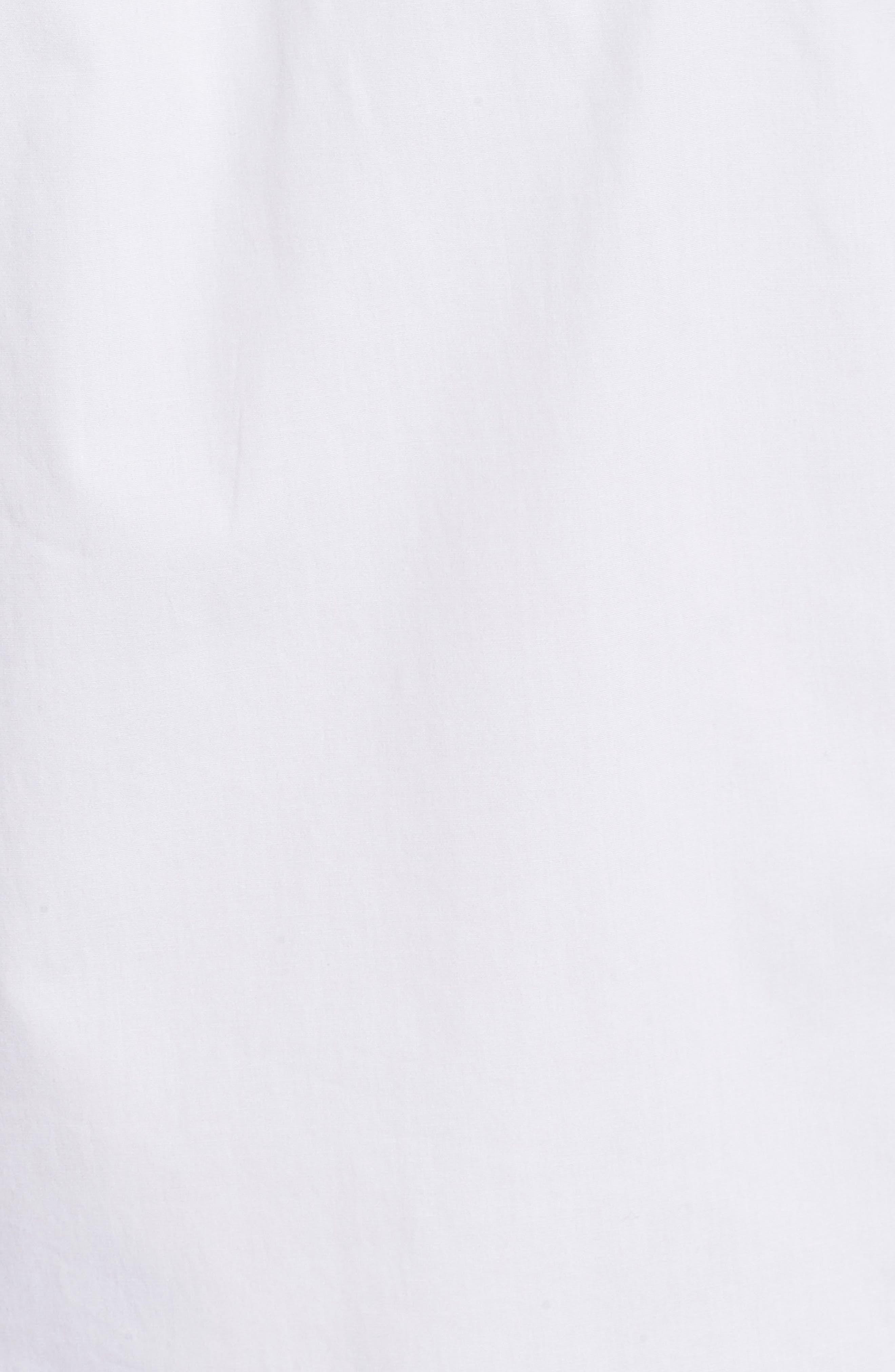 Poplin Grommet Lace-Up Top,                             Alternate thumbnail 5, color,                             100