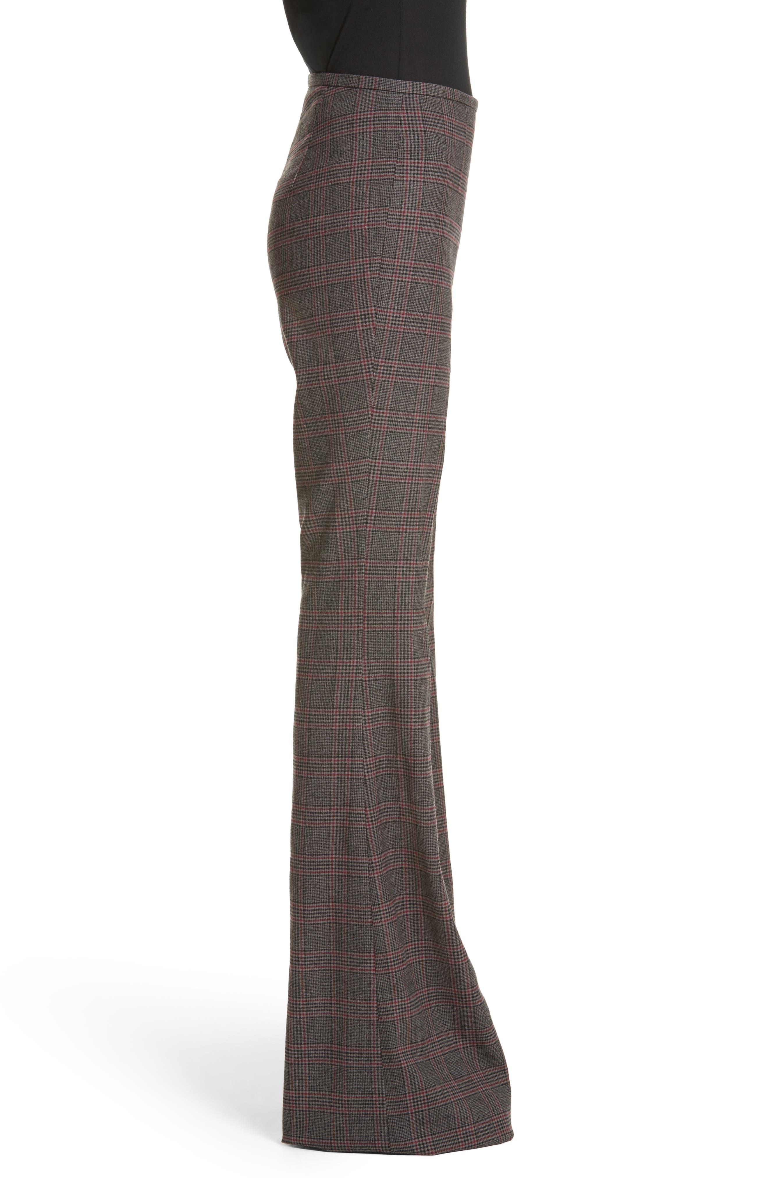 MICHAEL KORS,                             Plaid Stretch Wool Flannel Pants,                             Alternate thumbnail 3, color,                             034
