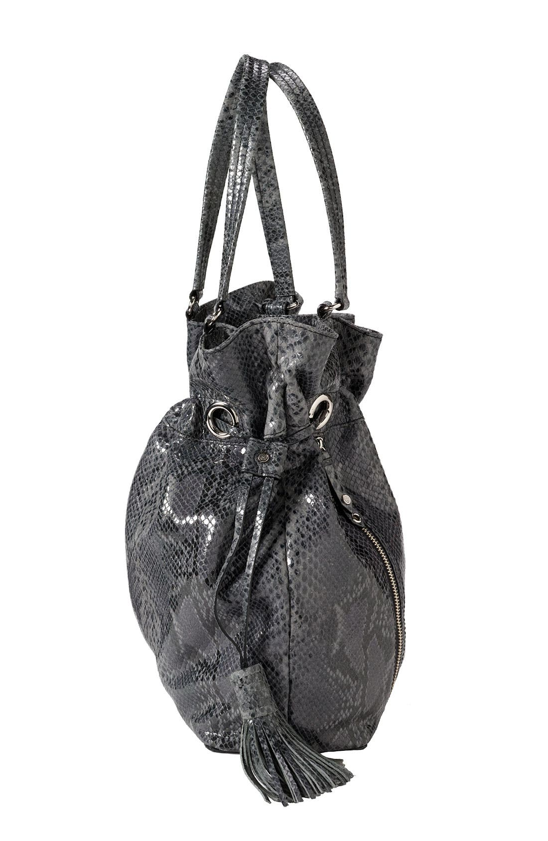 'Bailey' Pebbled Leather Drawstring Tote,                             Alternate thumbnail 15, color,