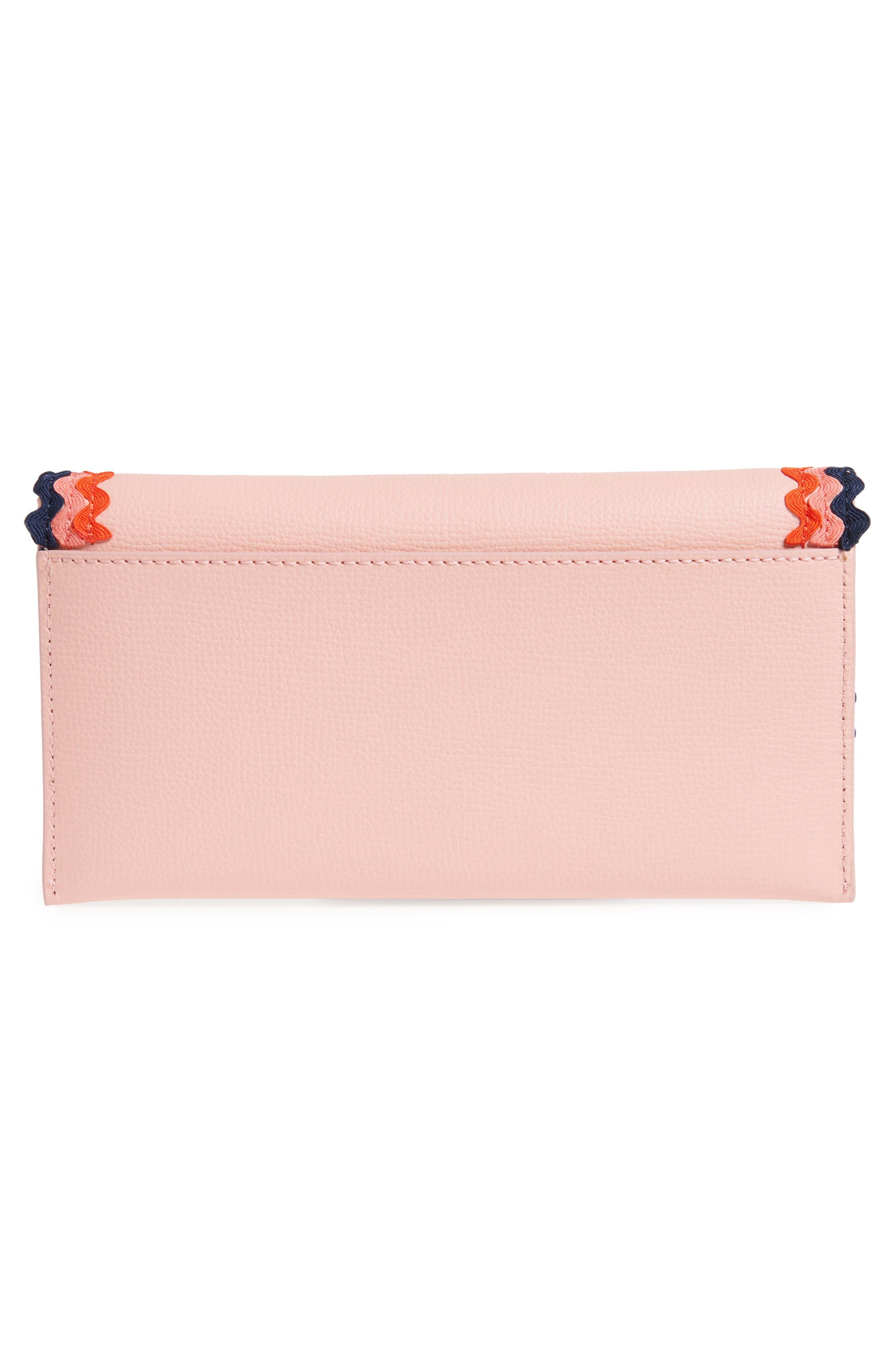 Eveything Embellished Leather Wallet,                             Alternate thumbnail 8, color,