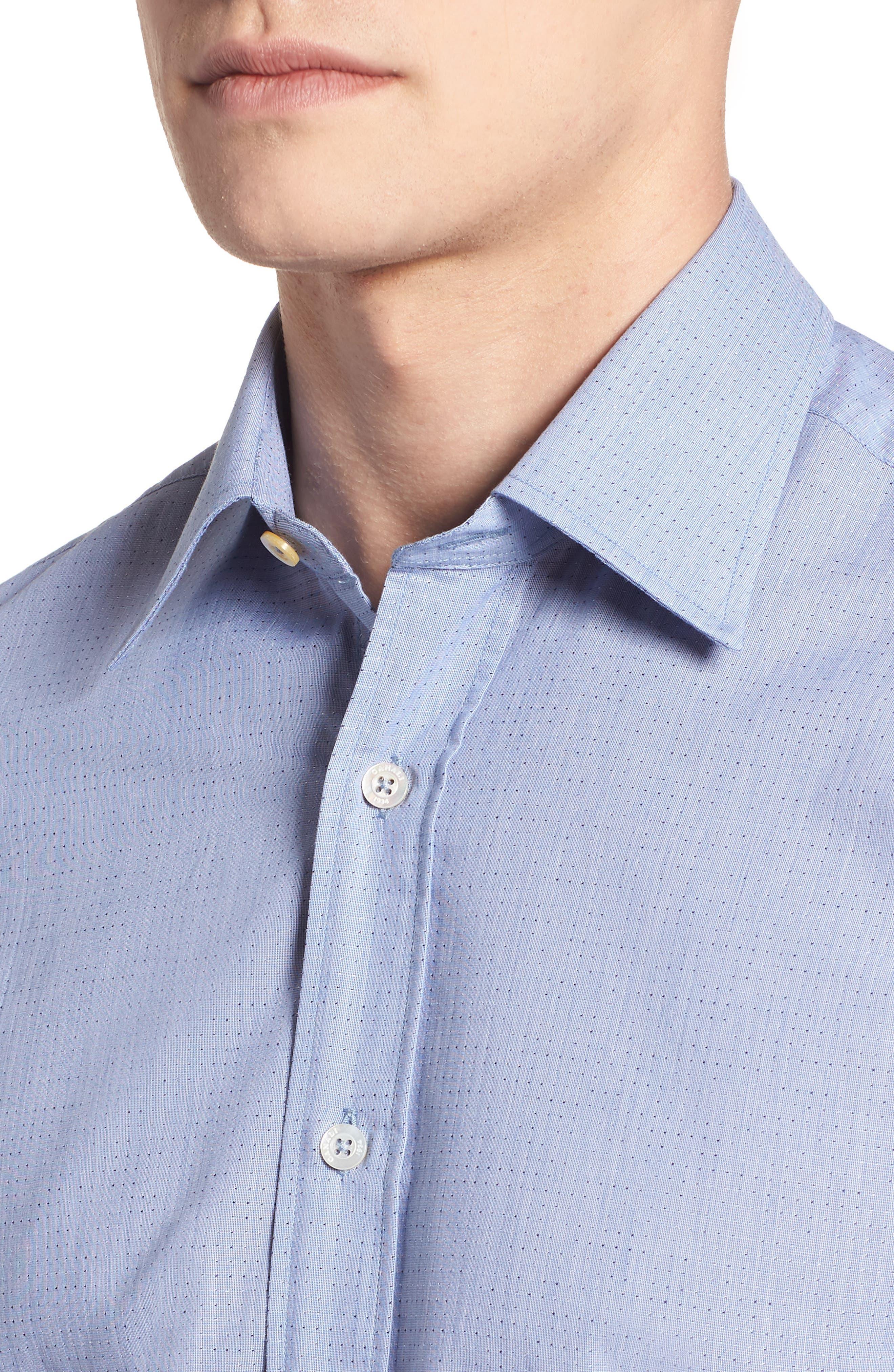 Regular Fit Dot Sport Shirt,                             Alternate thumbnail 4, color,                             420