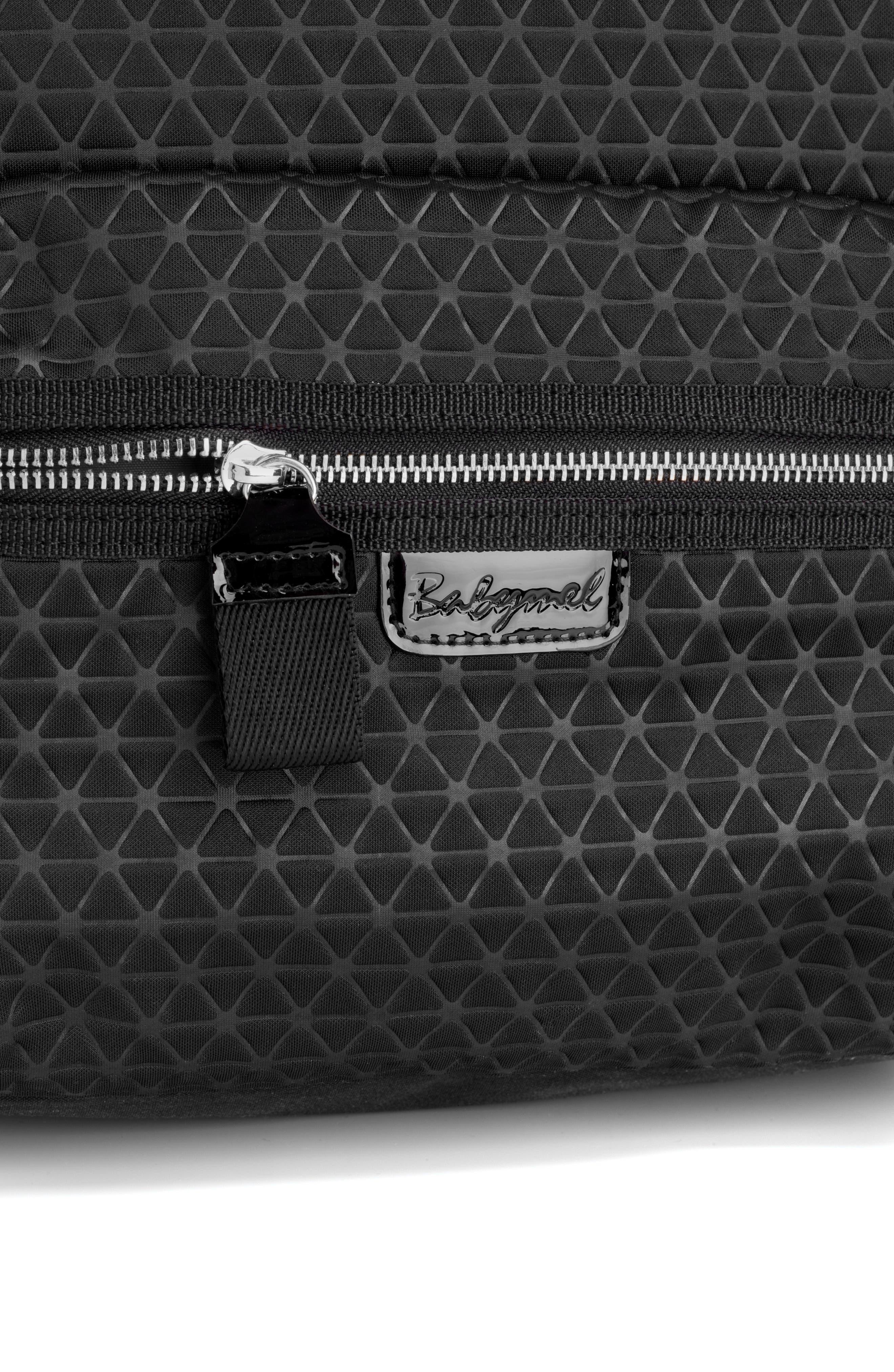 Luna Ultra Lite Diaper Backpack,                             Alternate thumbnail 4, color,                             BLACK