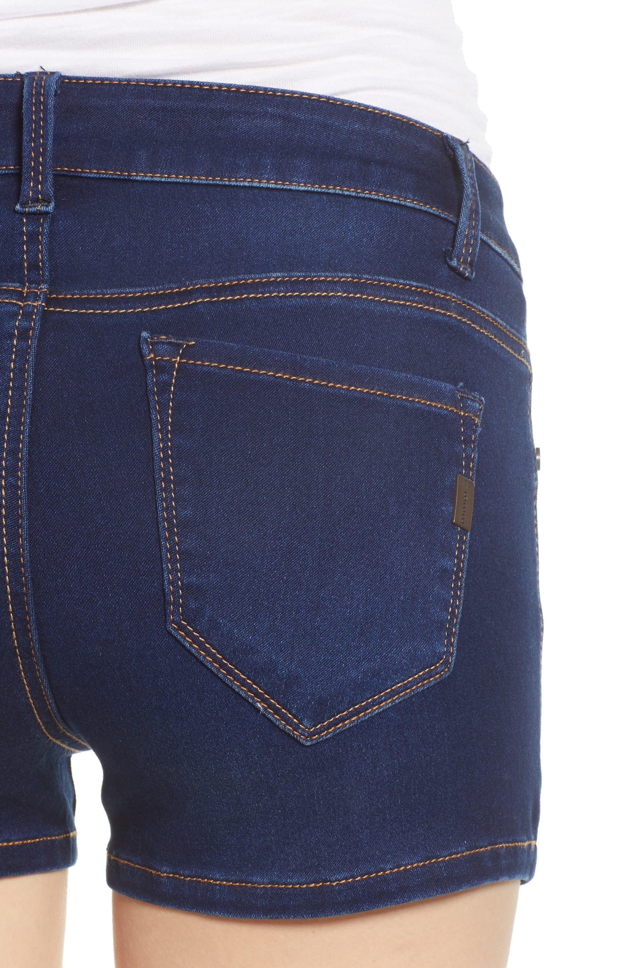 Butter Denim Shorts,                             Alternate thumbnail 4, color,                             LENNOX