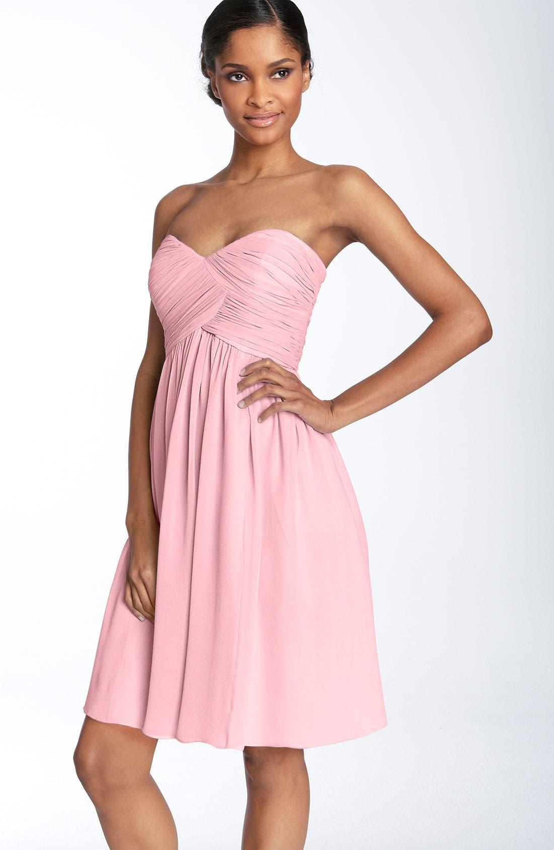 'Morgan' Strapless Silk Chiffon Dress,                             Main thumbnail 34, color,