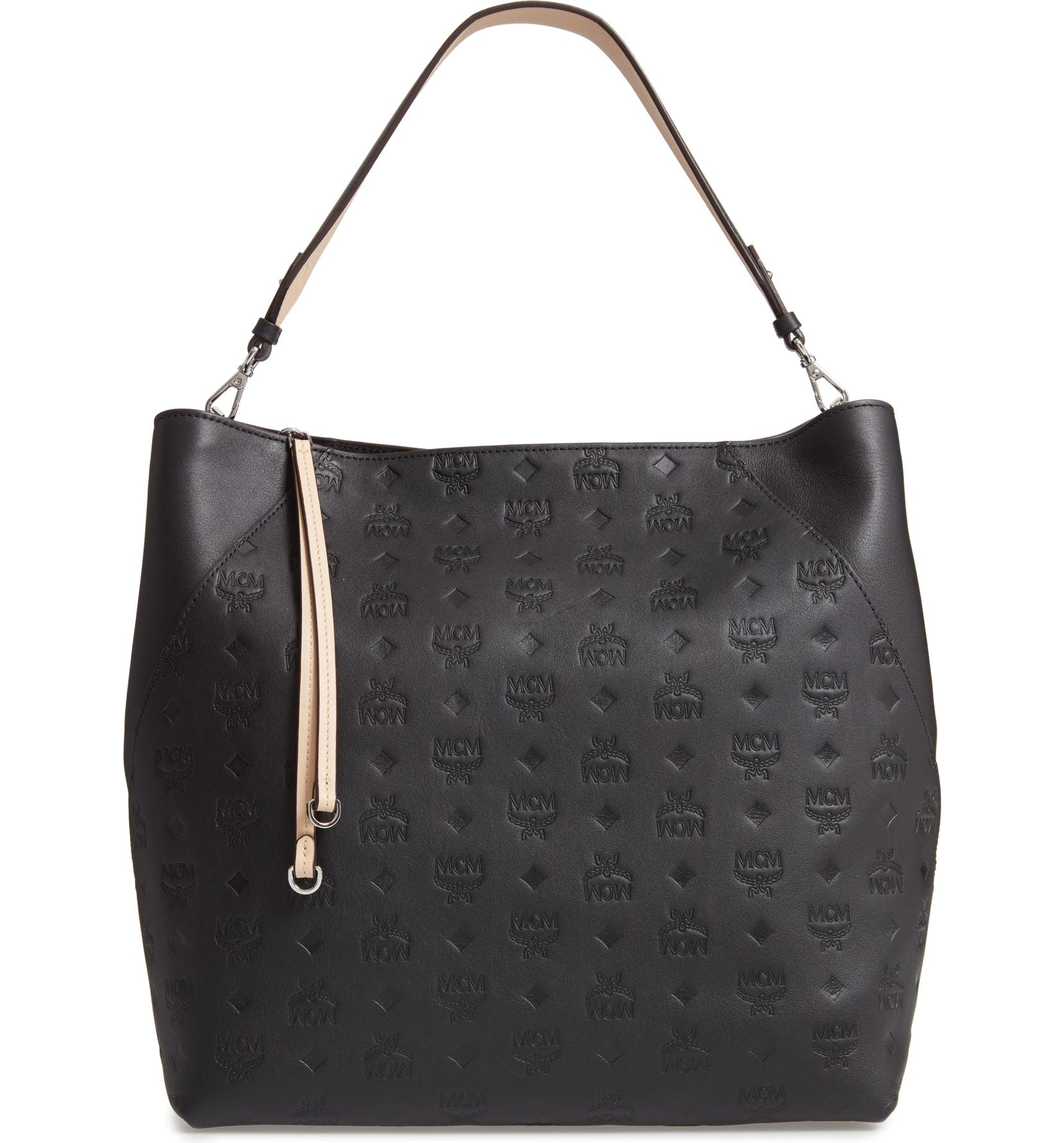 80ff795e2cae MCM Large Klara Monogram Leather Hobo