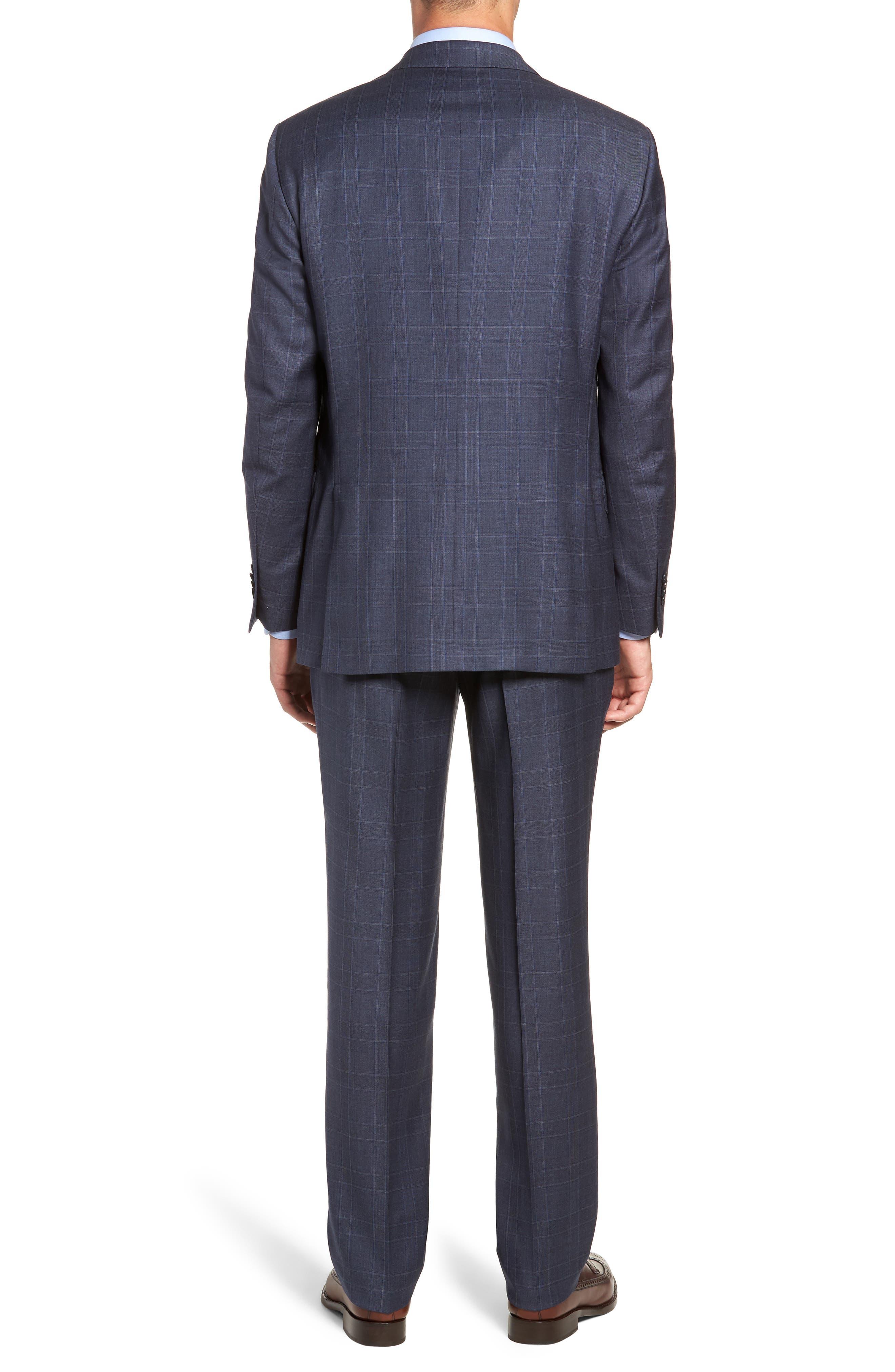 Flynn Classic Fit Plaid Wool Suit,                             Alternate thumbnail 2, color,                             BLUE