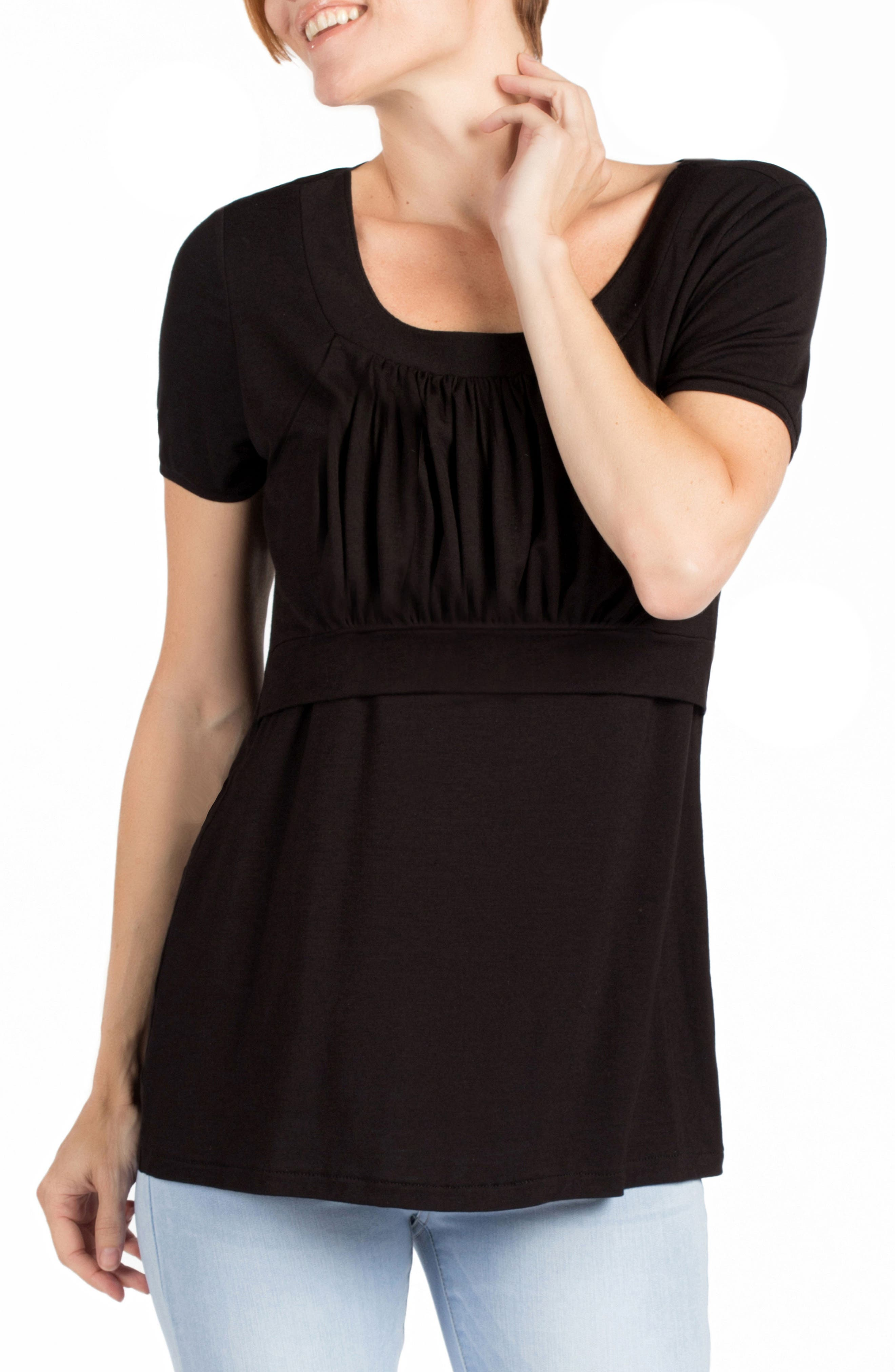 Westin Maternity/Nursing Top,                             Main thumbnail 1, color,                             BLACK