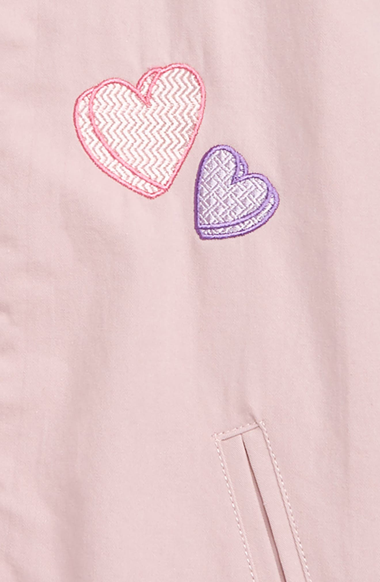 Elise Heart Bomber Jacket,                             Alternate thumbnail 2, color,                             PINK