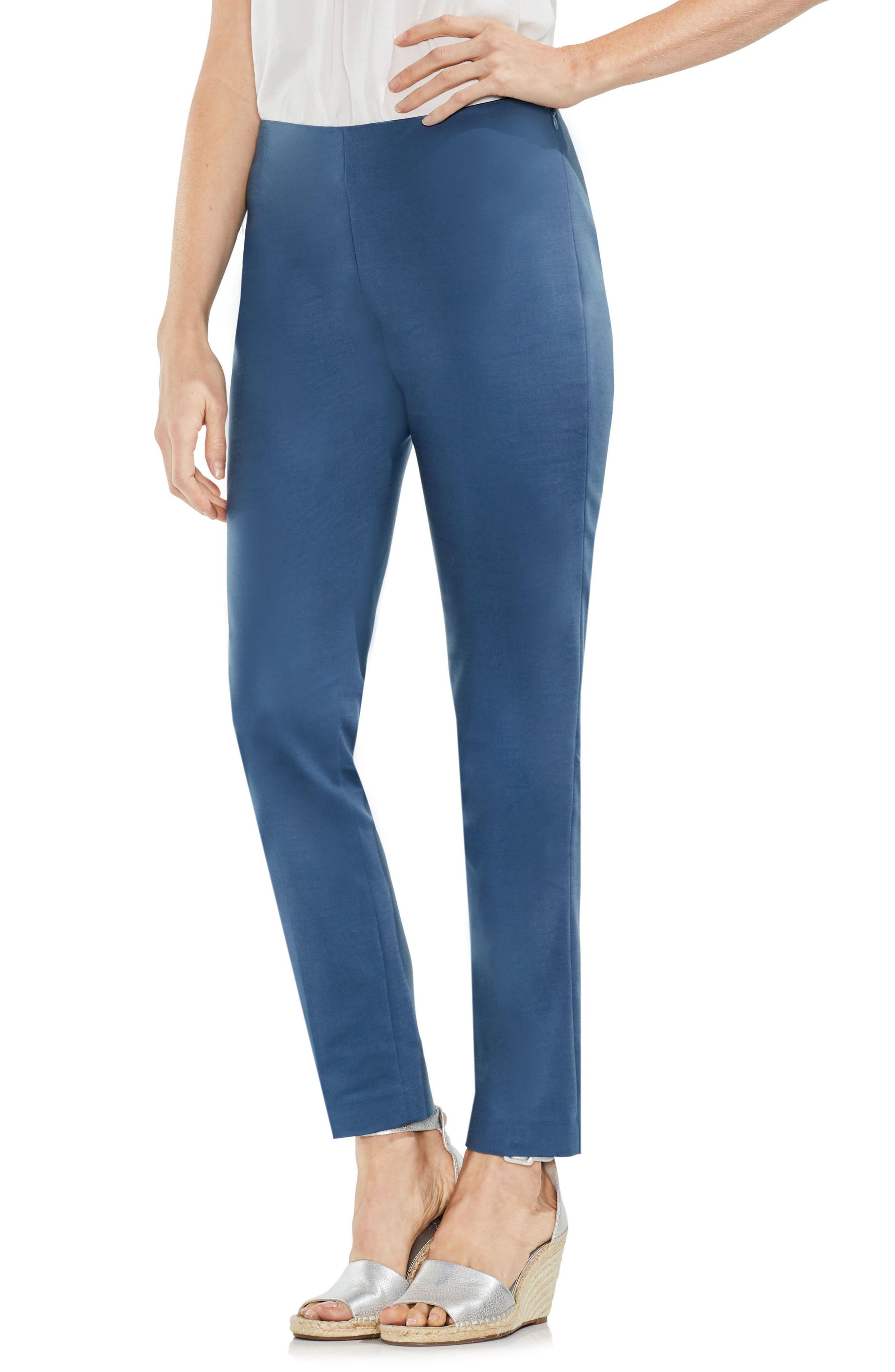 Side Zip Double Weave Pants,                             Main thumbnail 6, color,