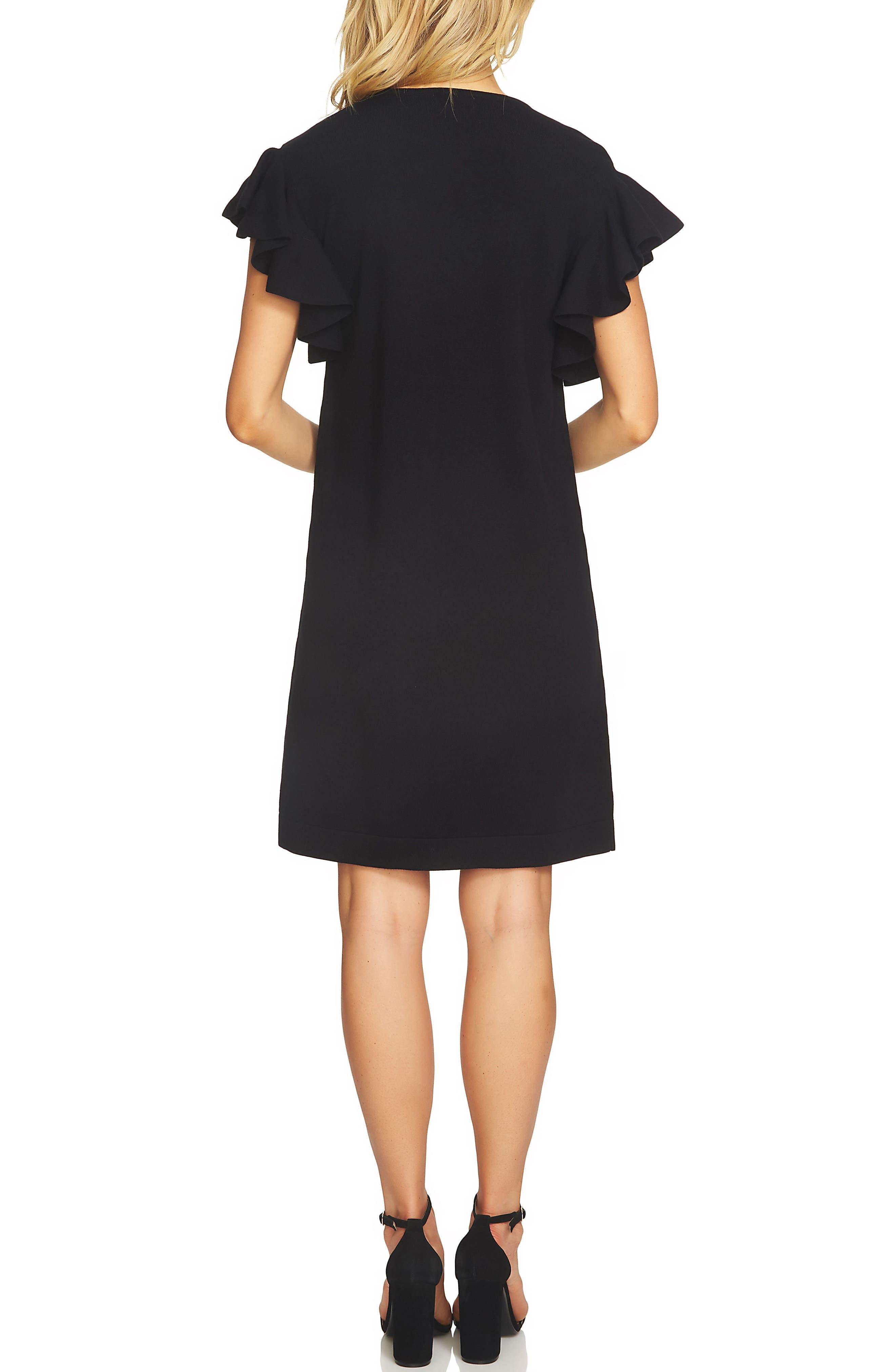 Ruffle Sleeve Sweater Dress,                             Alternate thumbnail 4, color,