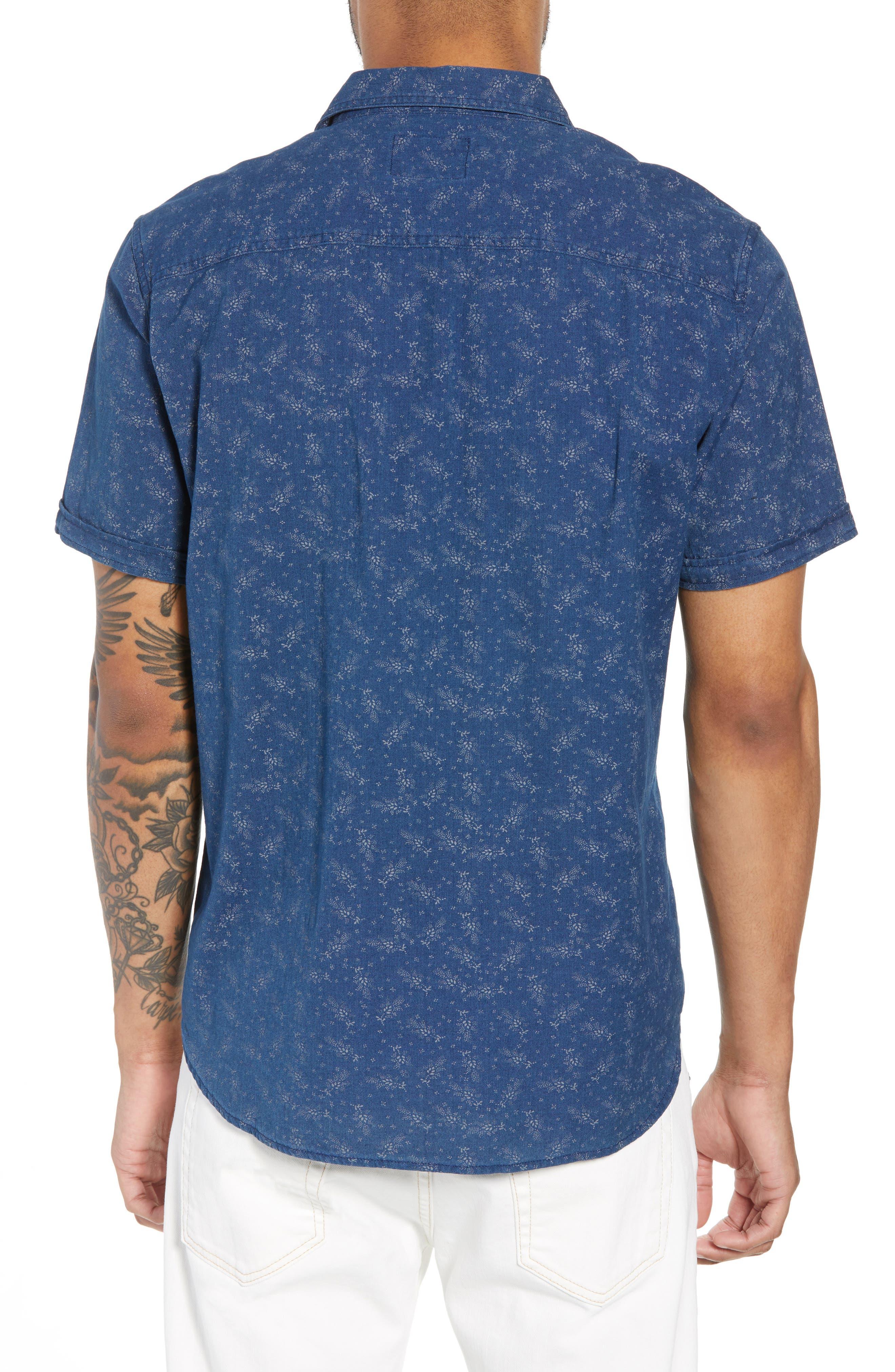 Carson Regular Fit Floral Print Sport Shirt,                             Alternate thumbnail 3, color,                             BISBEE PRINT