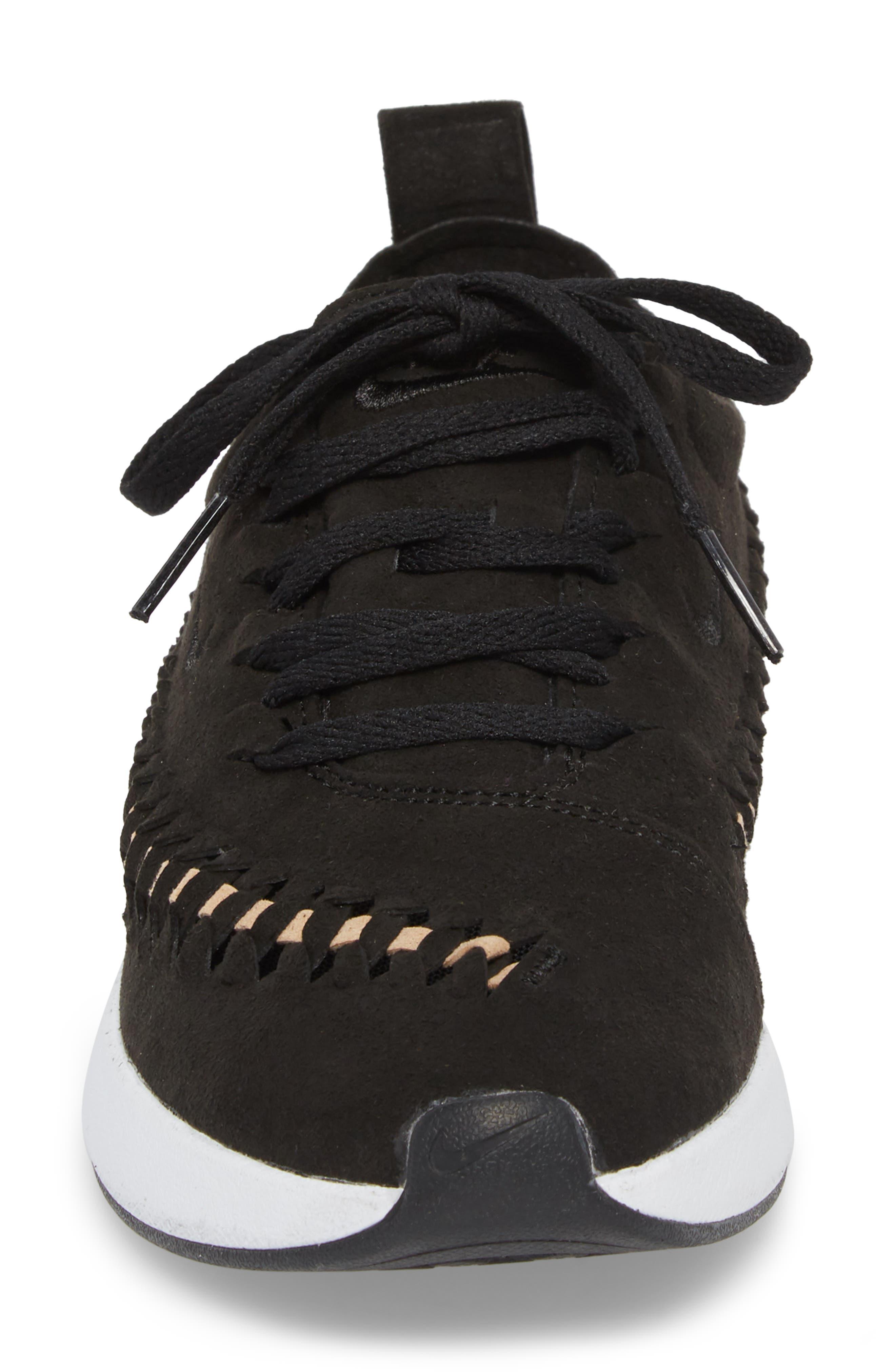 Dualtone Racer Woven Sneaker,                             Alternate thumbnail 4, color,                             001
