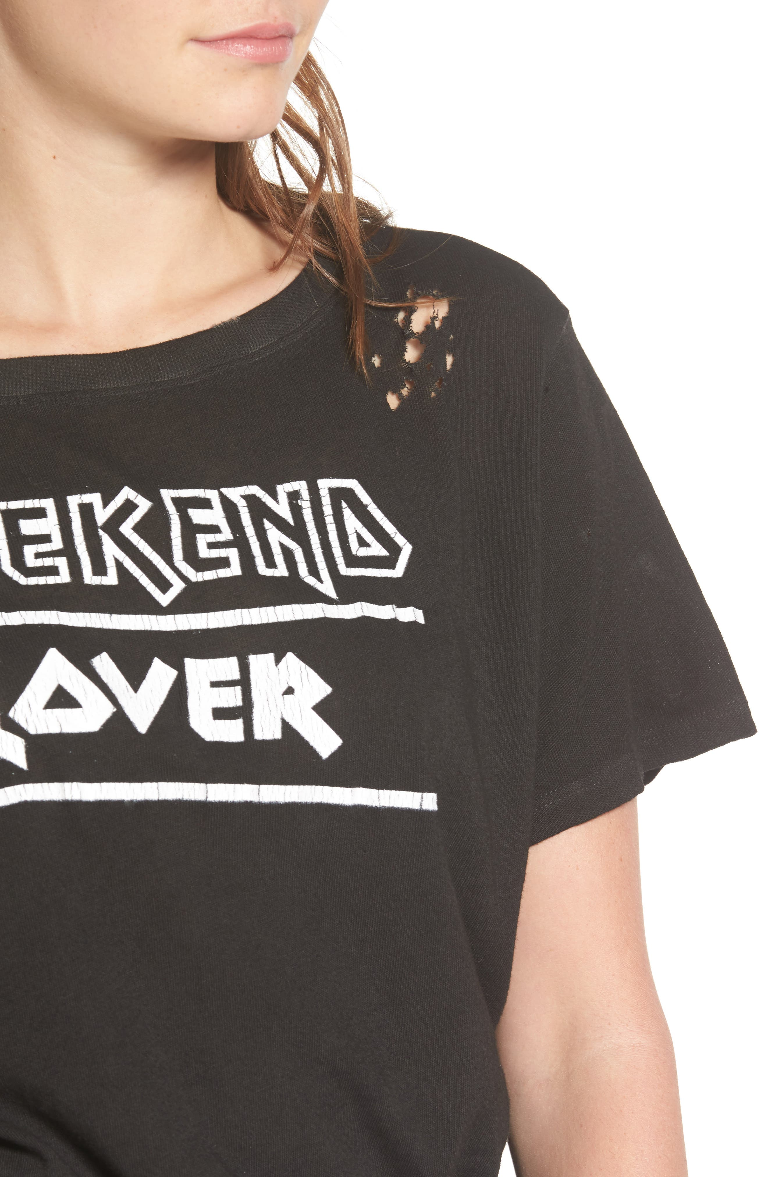 PRINCE PETER,                             Weekend Lover Distressed Tee,                             Alternate thumbnail 4, color,                             001