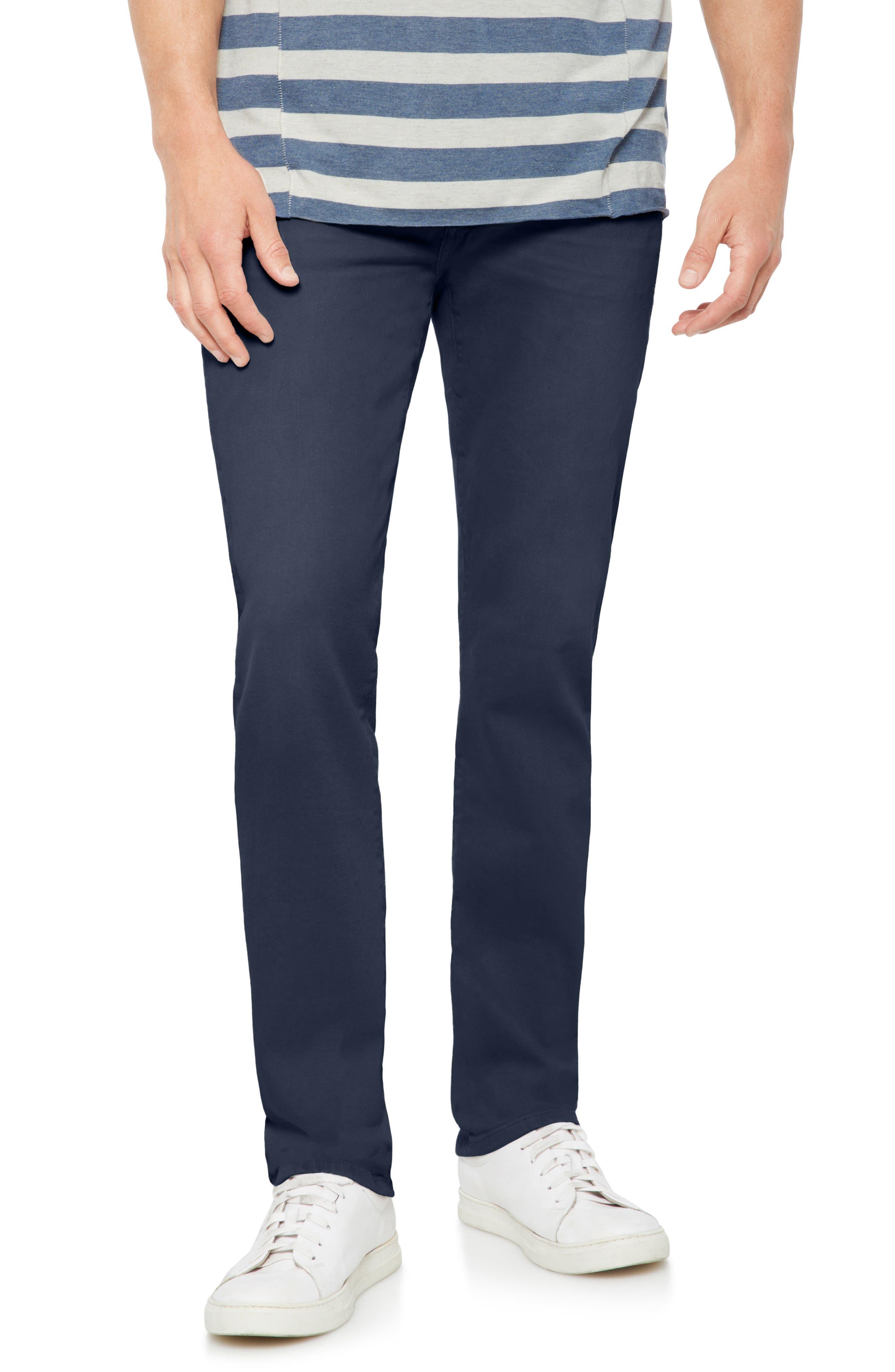 Brixton Slim Straight Fit Pants,                             Main thumbnail 1, color,                             NAVY