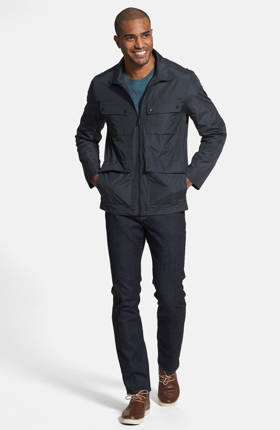 ANDREW MARC,                             'Robert' Water Resistant Jacket,                             Alternate thumbnail 3, color,                             001