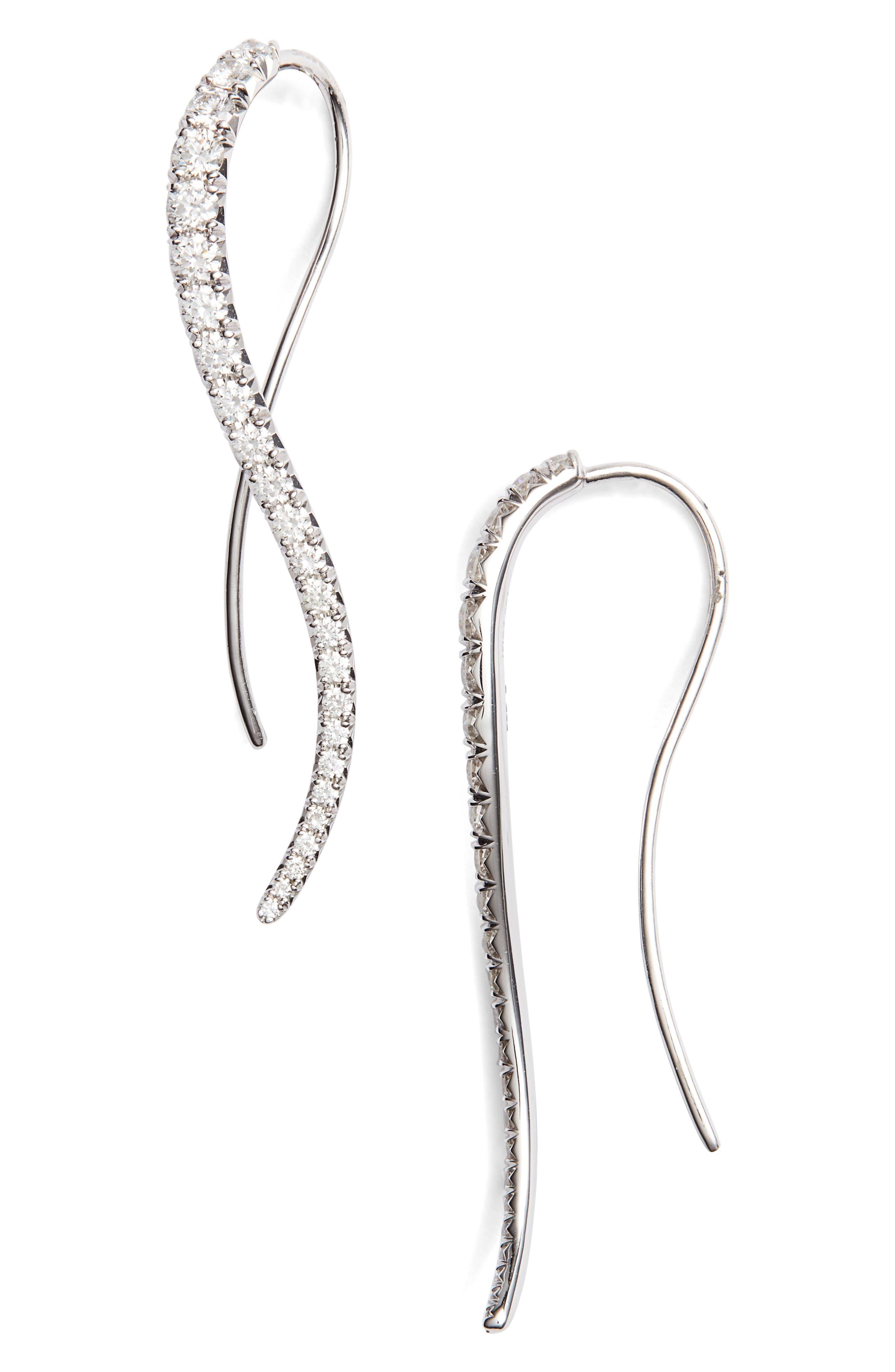 KWIAT Diamond Vine Earrings in White Gold