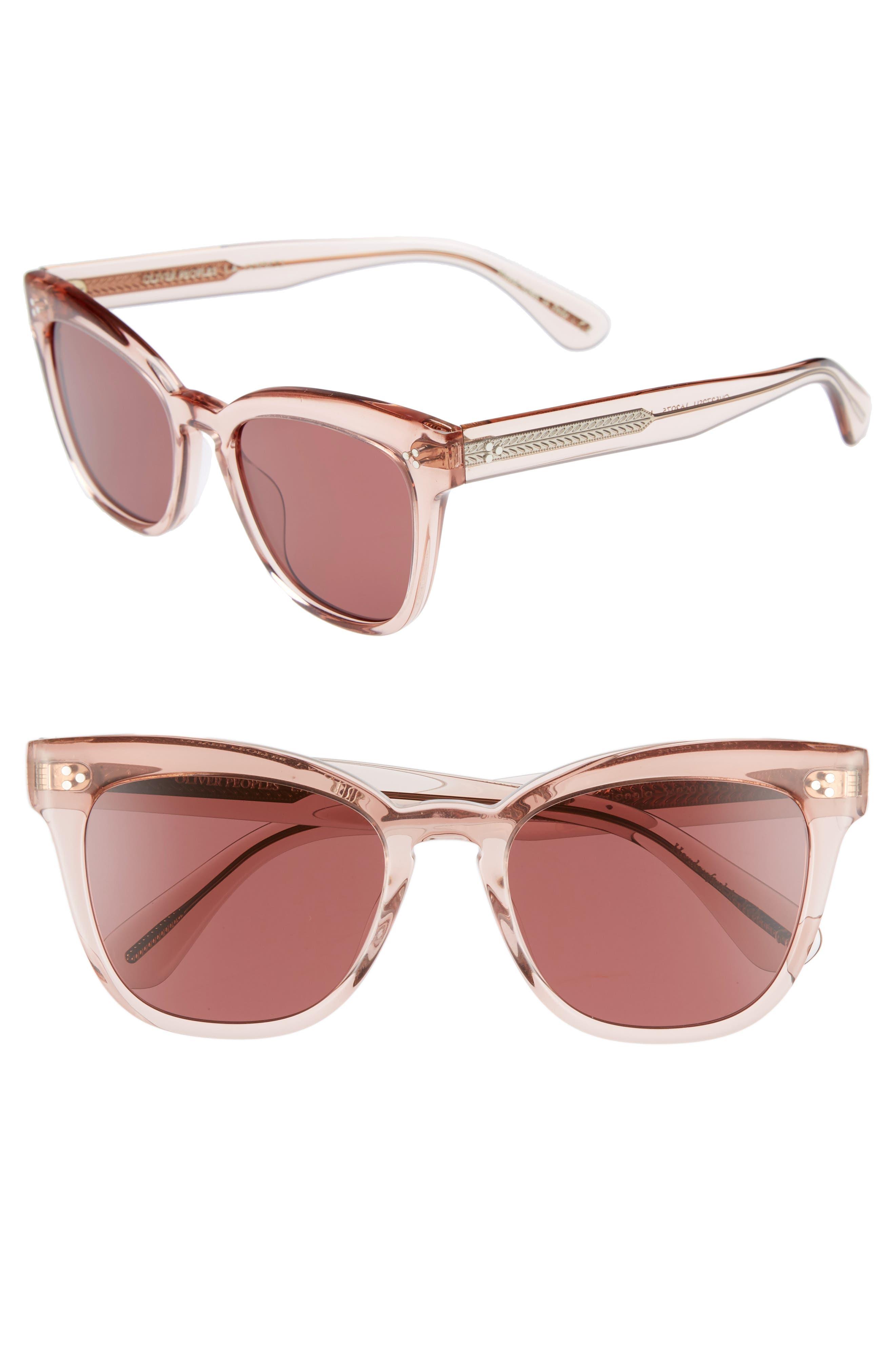 OLIVER PEOPLES,                             Marianela 54mm Cat Eye Sunglasses,                             Main thumbnail 1, color,                             WASHED ROSE