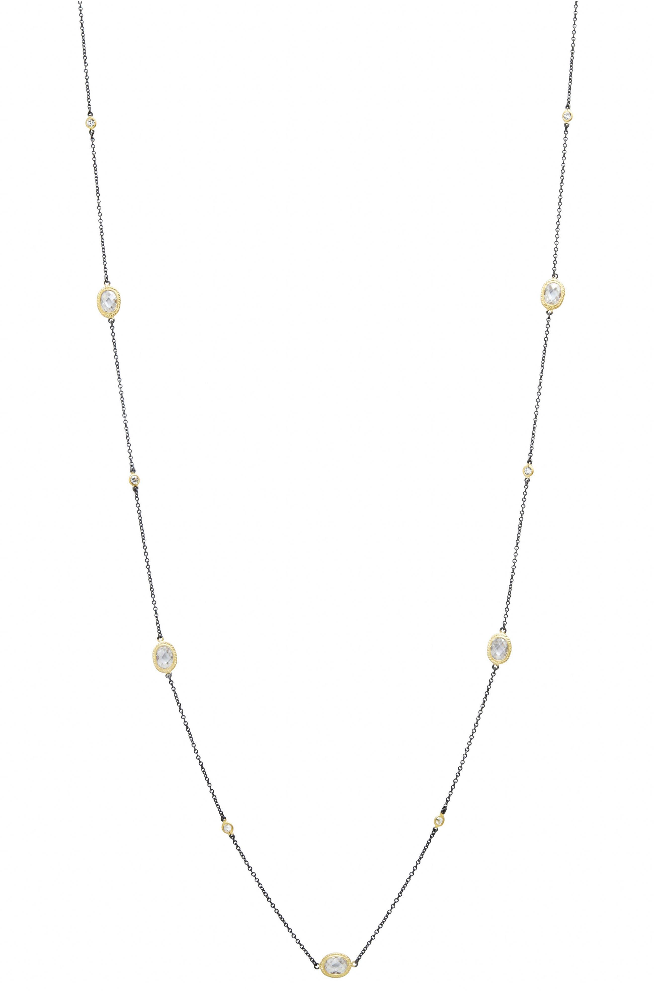 Signature Radiance Wrap Necklace,                             Alternate thumbnail 2, color,                             GOLD/ BLACK