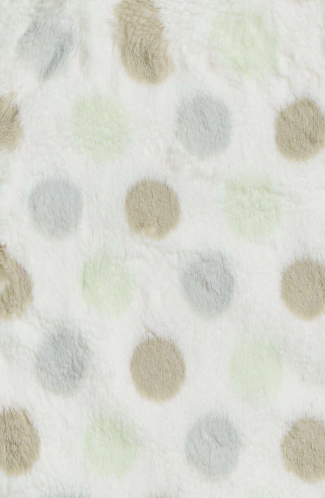 'Luxe Dot' Blanky,                             Alternate thumbnail 2, color,                             CELADON