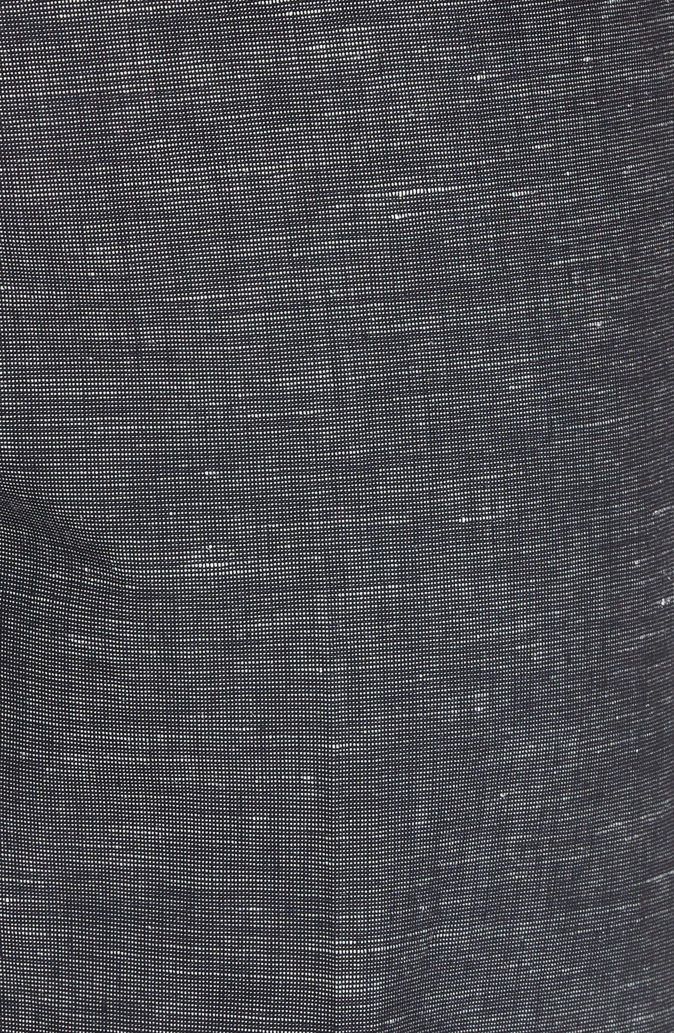 Flat Front Solid Stretch Cotton & Linen Pants,                             Alternate thumbnail 9, color,