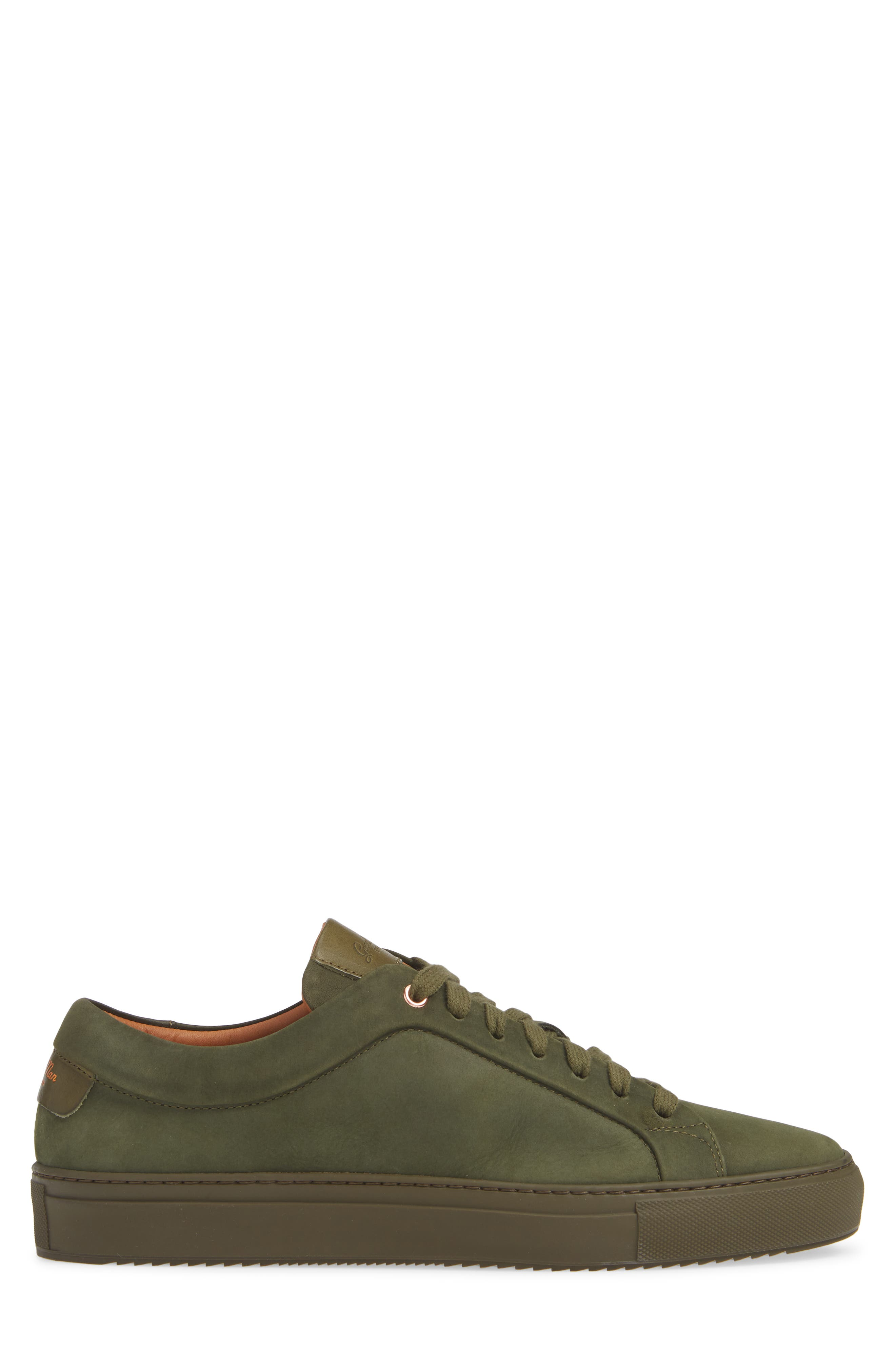Sure Shot Lo Sneaker,                             Alternate thumbnail 3, color,                             MILITARY GREEN LEATHER