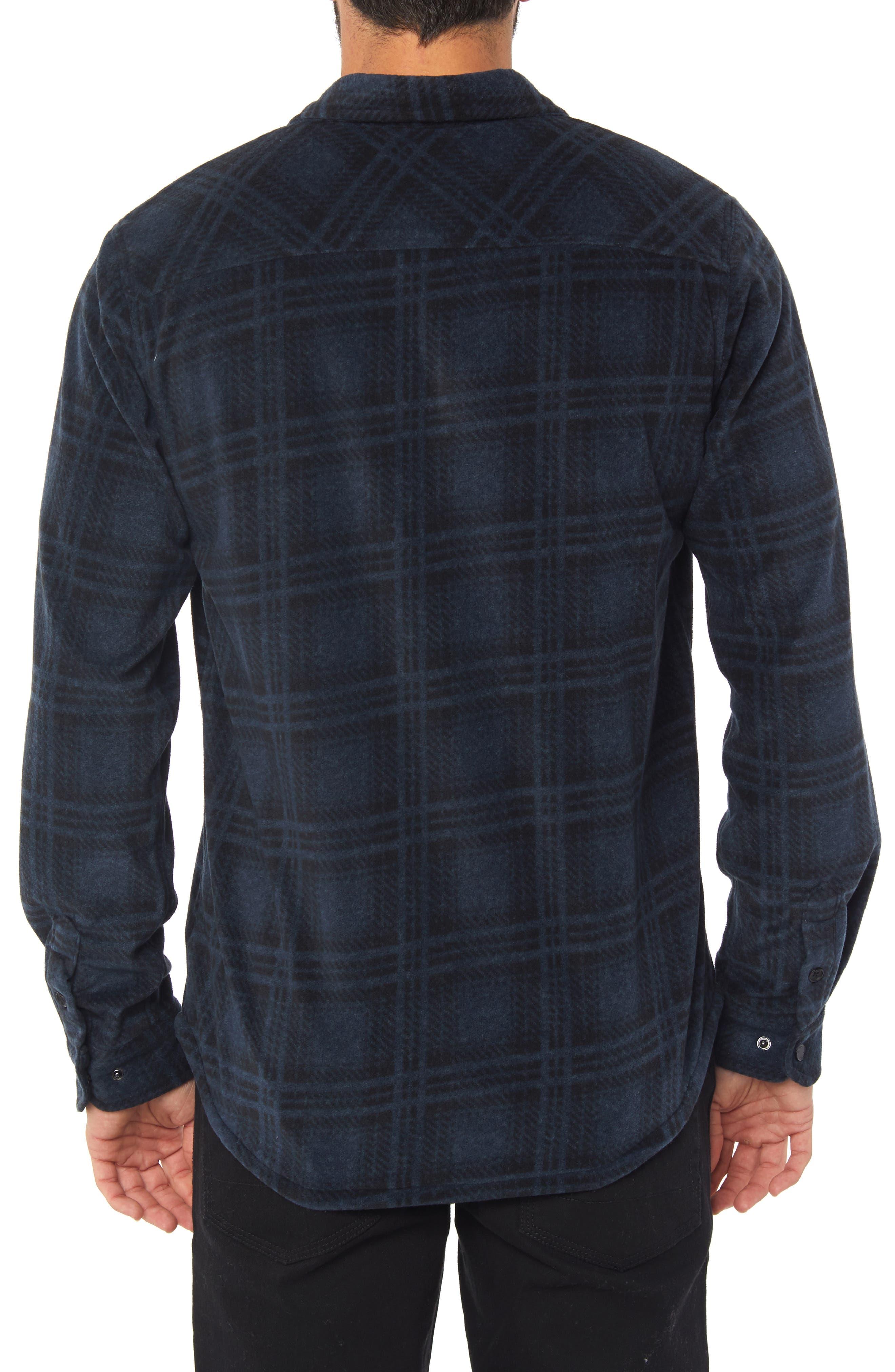 Glacier Ridge Long Sleeve Shirt,                             Alternate thumbnail 2, color,                             DARK NAVY