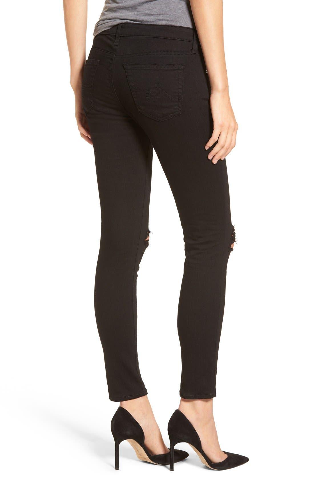 'The Legging' Ankle Super Skinny Jeans,                             Alternate thumbnail 13, color,
