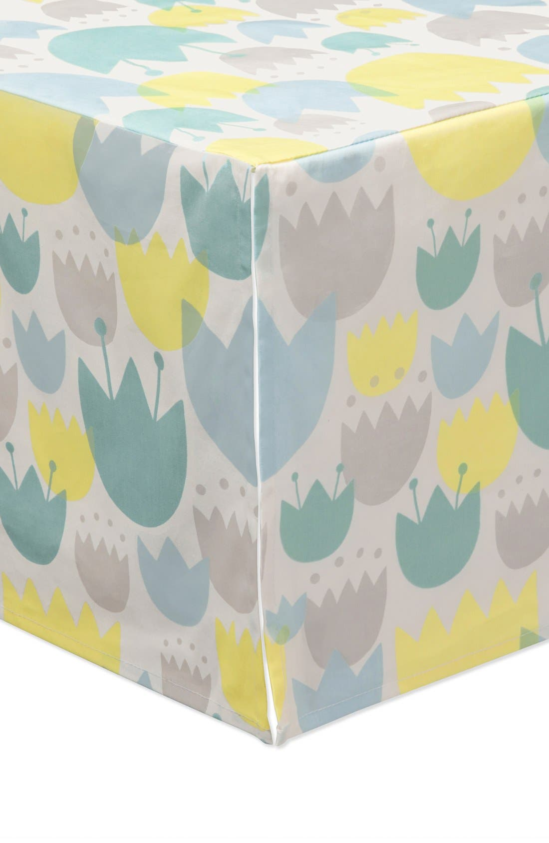 'Garden' Crib Sheet, Crib Skirt, Play Blanket, Changing Pad Cover, Stroller Blanket & Wall Decals,                             Alternate thumbnail 6, color,                             BLUE