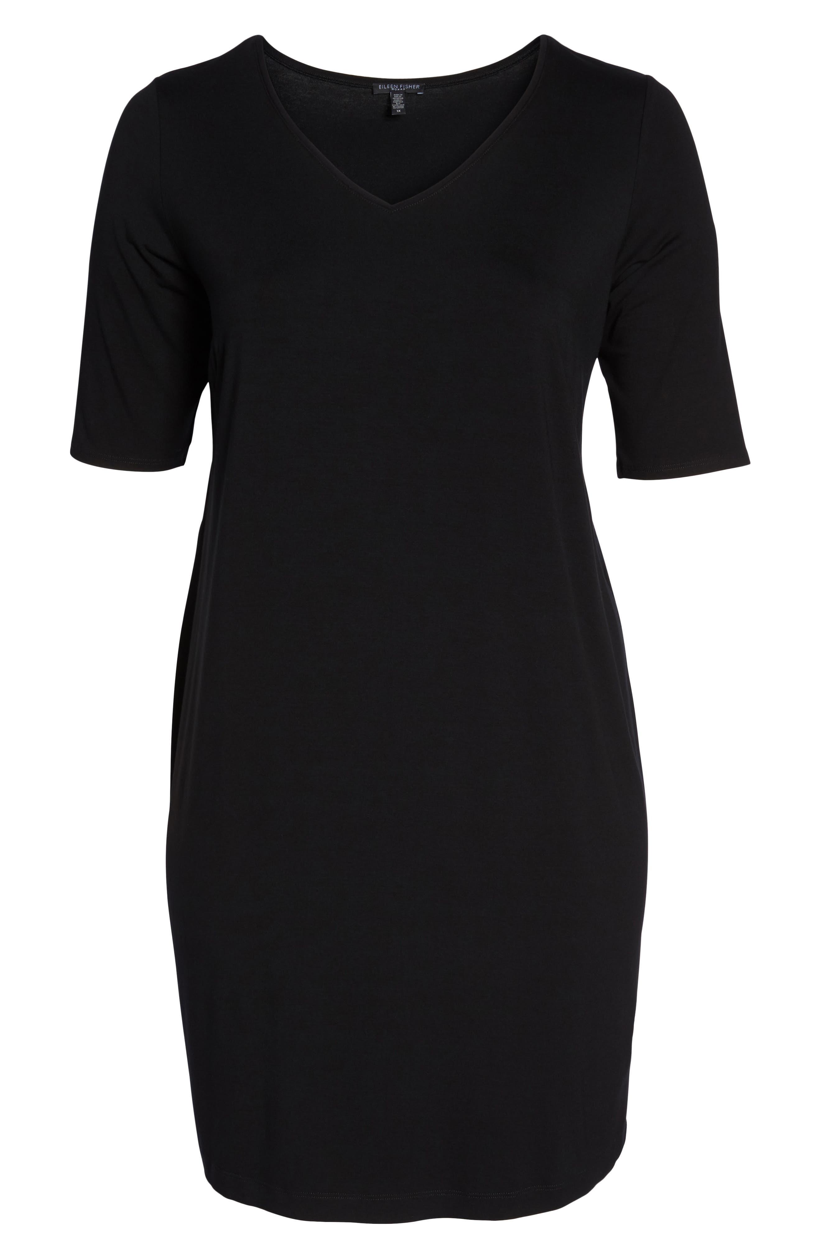 V-Neck Stretch Jersey Shift Dress,                             Alternate thumbnail 27, color,