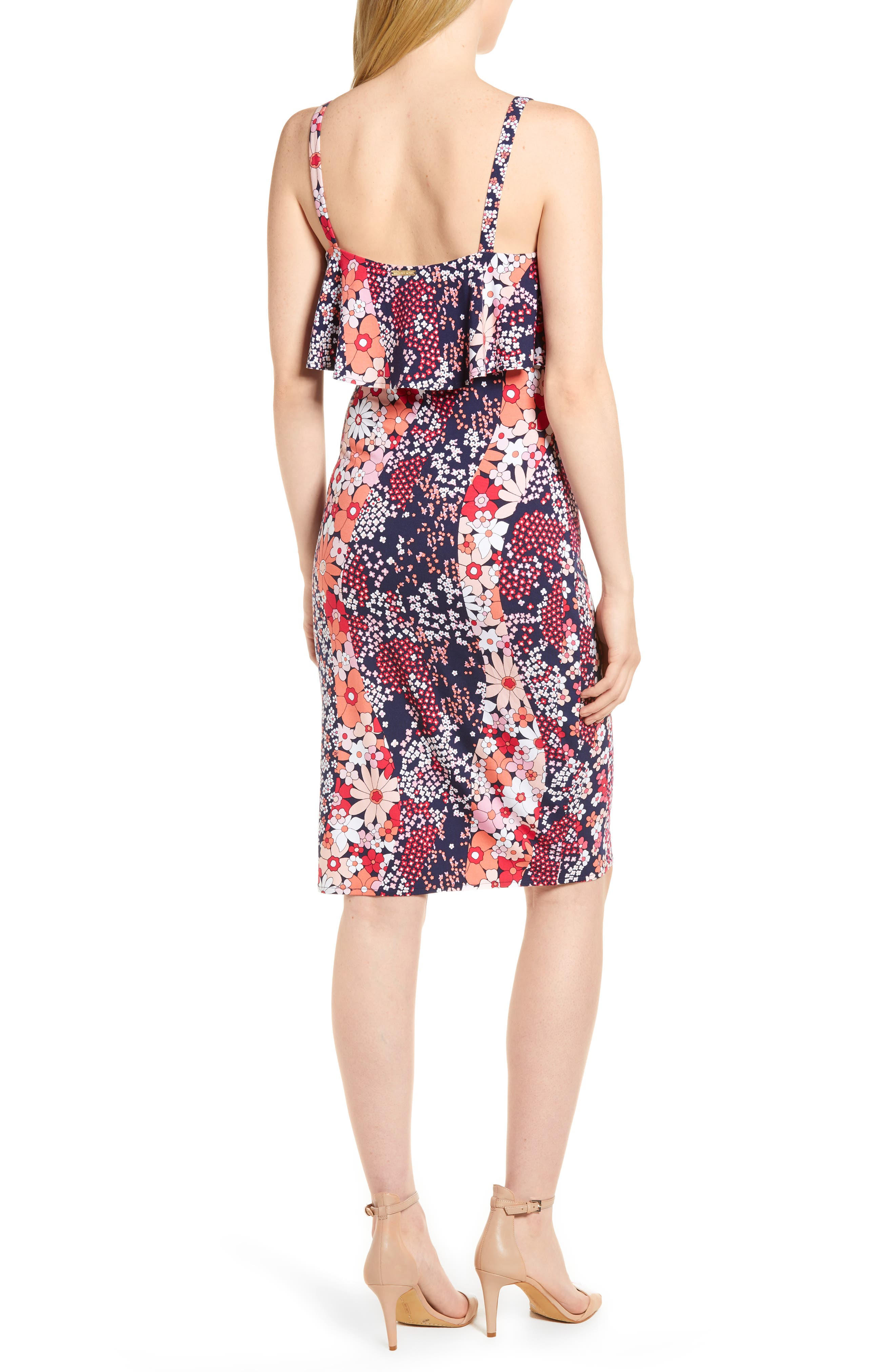 Print Floral Dress,                             Alternate thumbnail 2, color,                             678