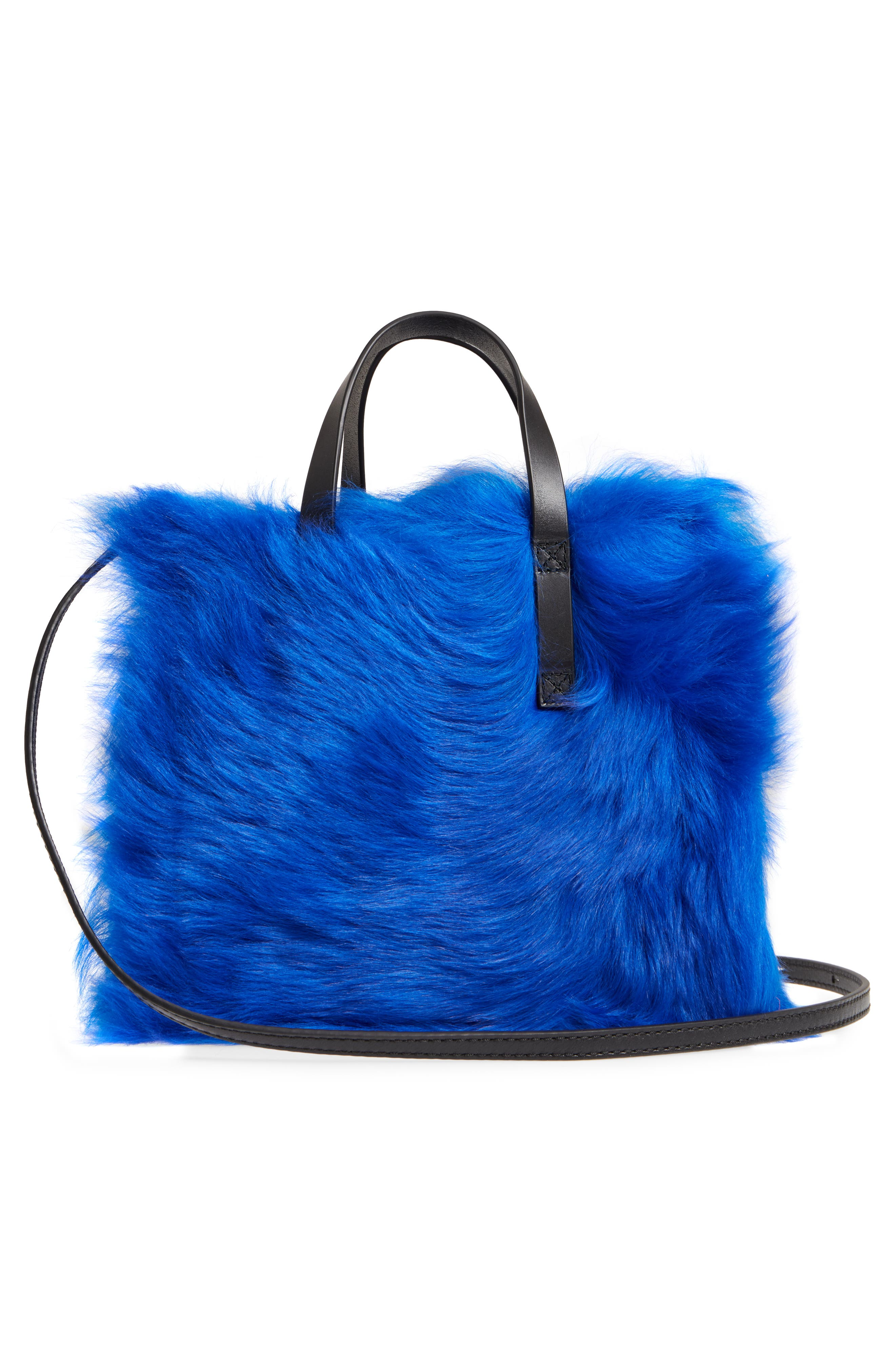 Mini The Grind Genuine Shearling Tote,                             Alternate thumbnail 3, color,