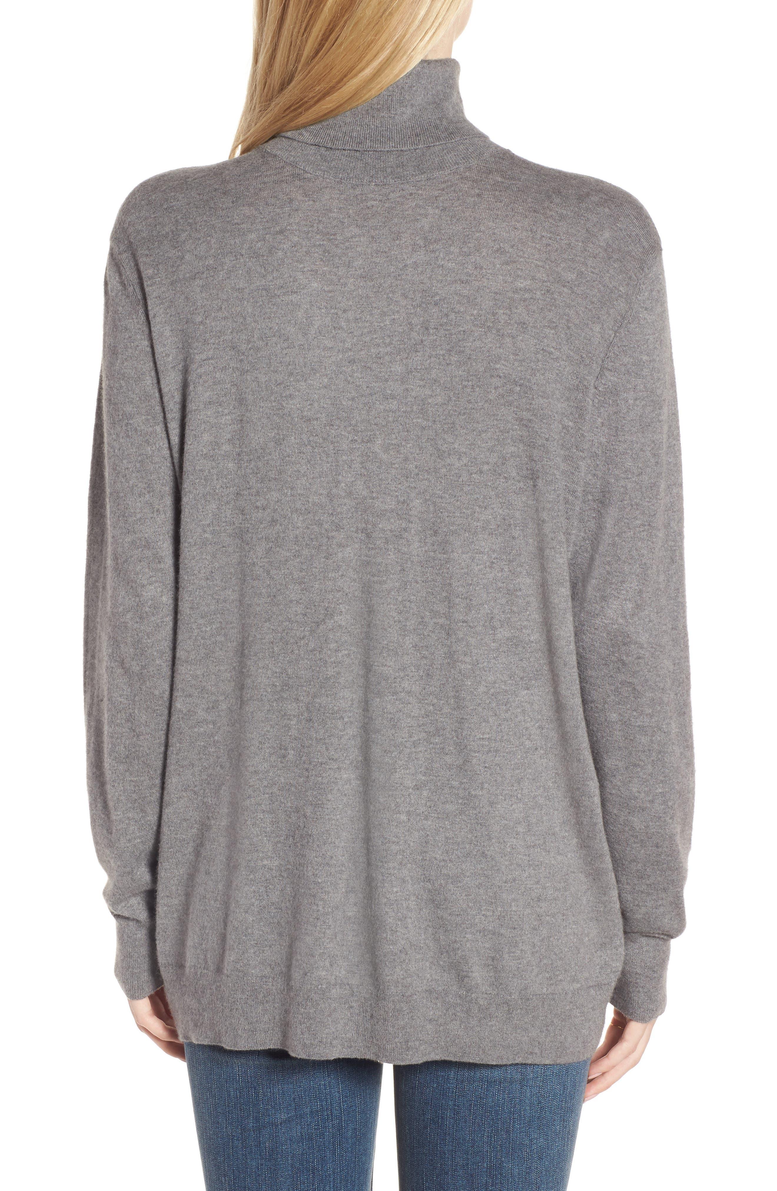Boyfriend Turtleneck Sweater,                             Alternate thumbnail 5, color,