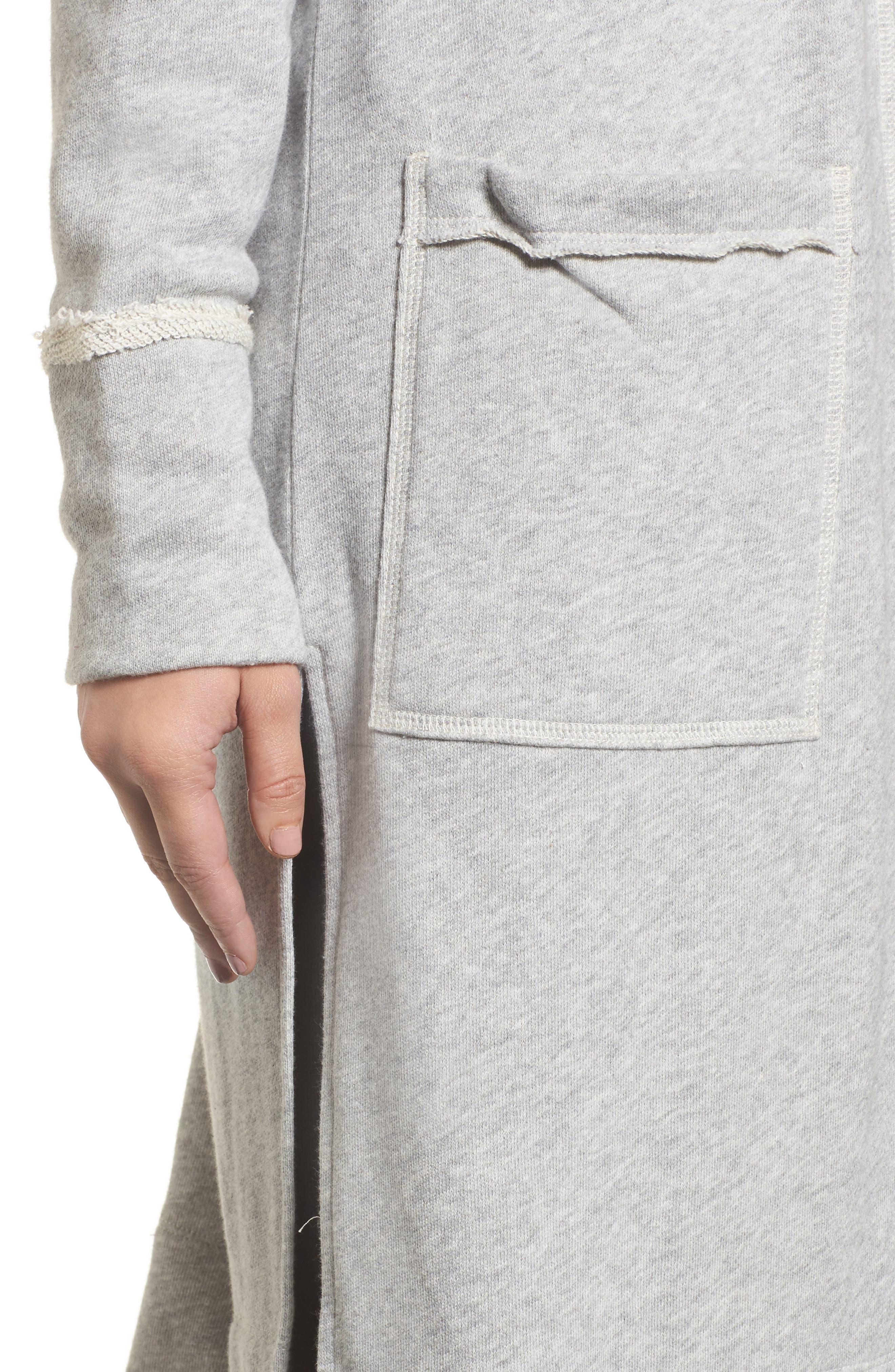 Hooded Long Cardigan,                             Alternate thumbnail 8, color,