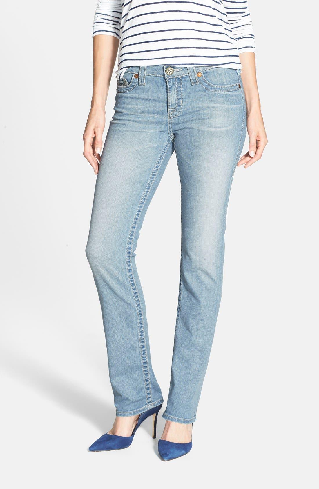 'Kate' Straight Leg Jeans, Main, color, 450
