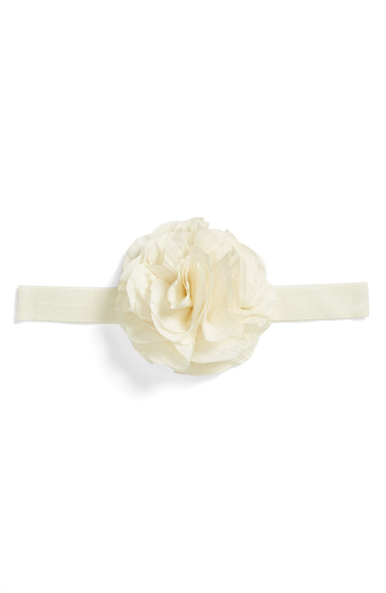 Flower Headband,                             Alternate thumbnail 2, color,                             IVORY