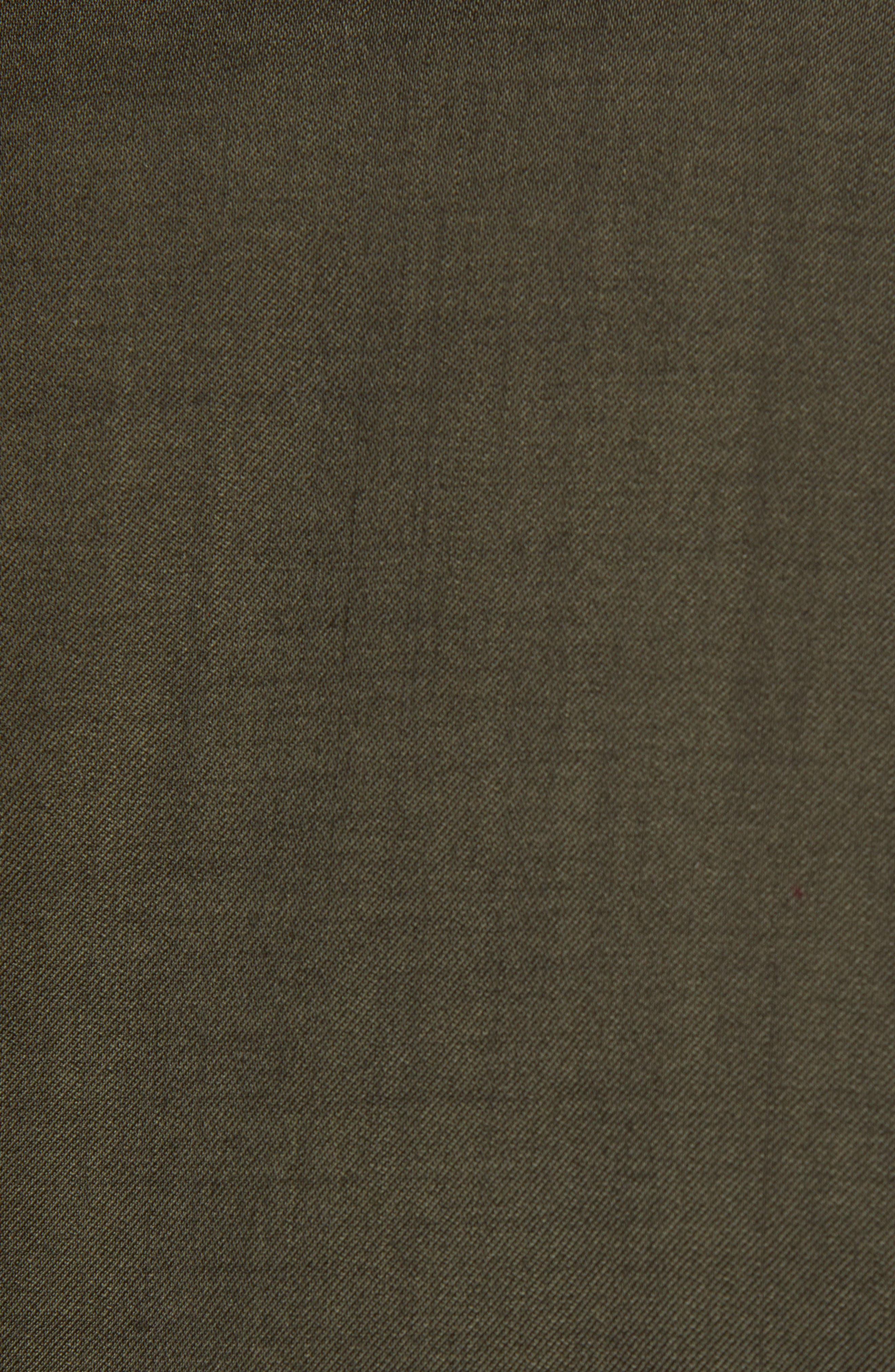 Extra Trim Fit Garment Dyed Wool Sport Coat,                             Alternate thumbnail 6, color,                             OLIVE