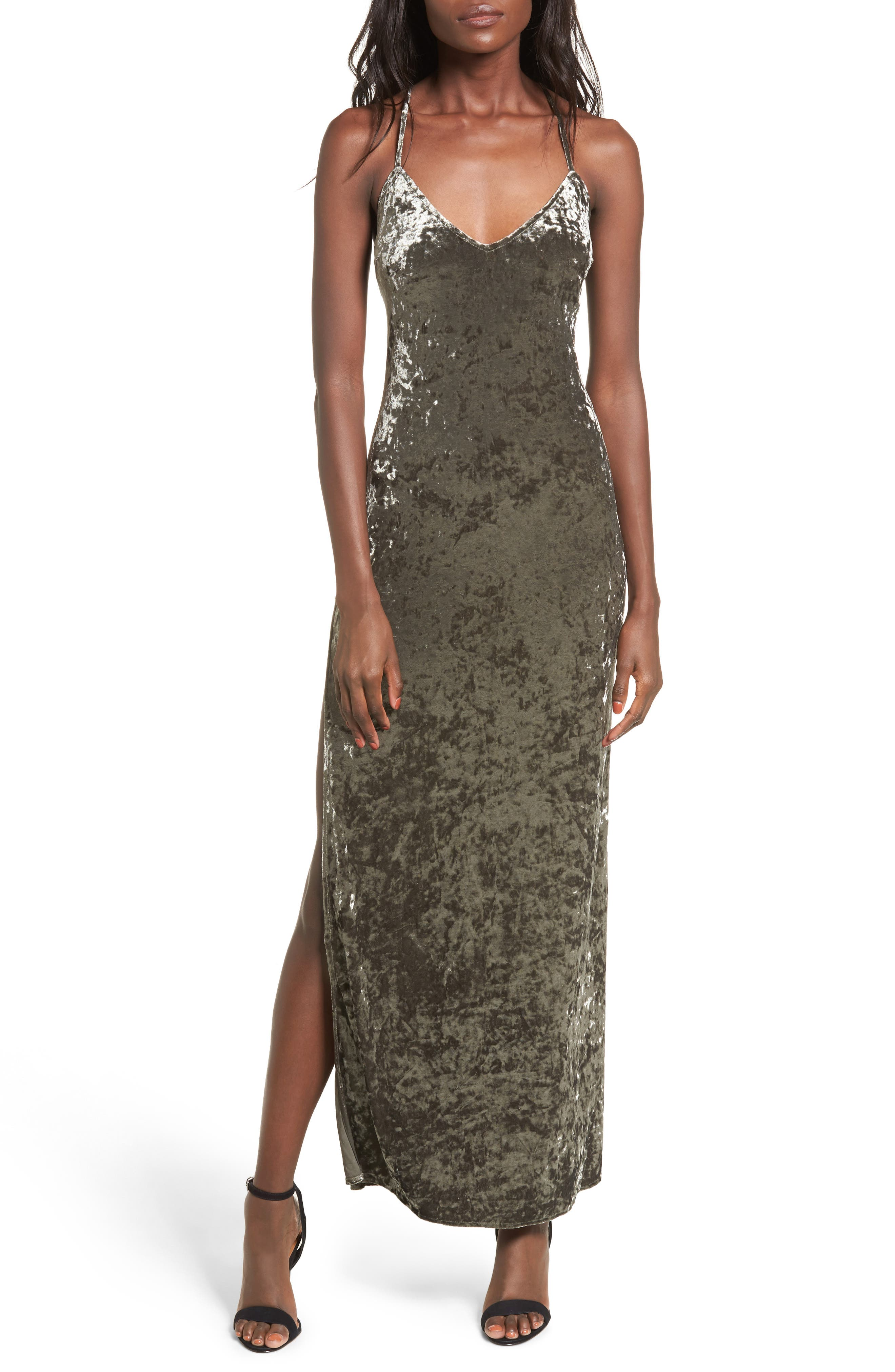 In the Deep Velvet Maxi Dress,                         Main,                         color, 020
