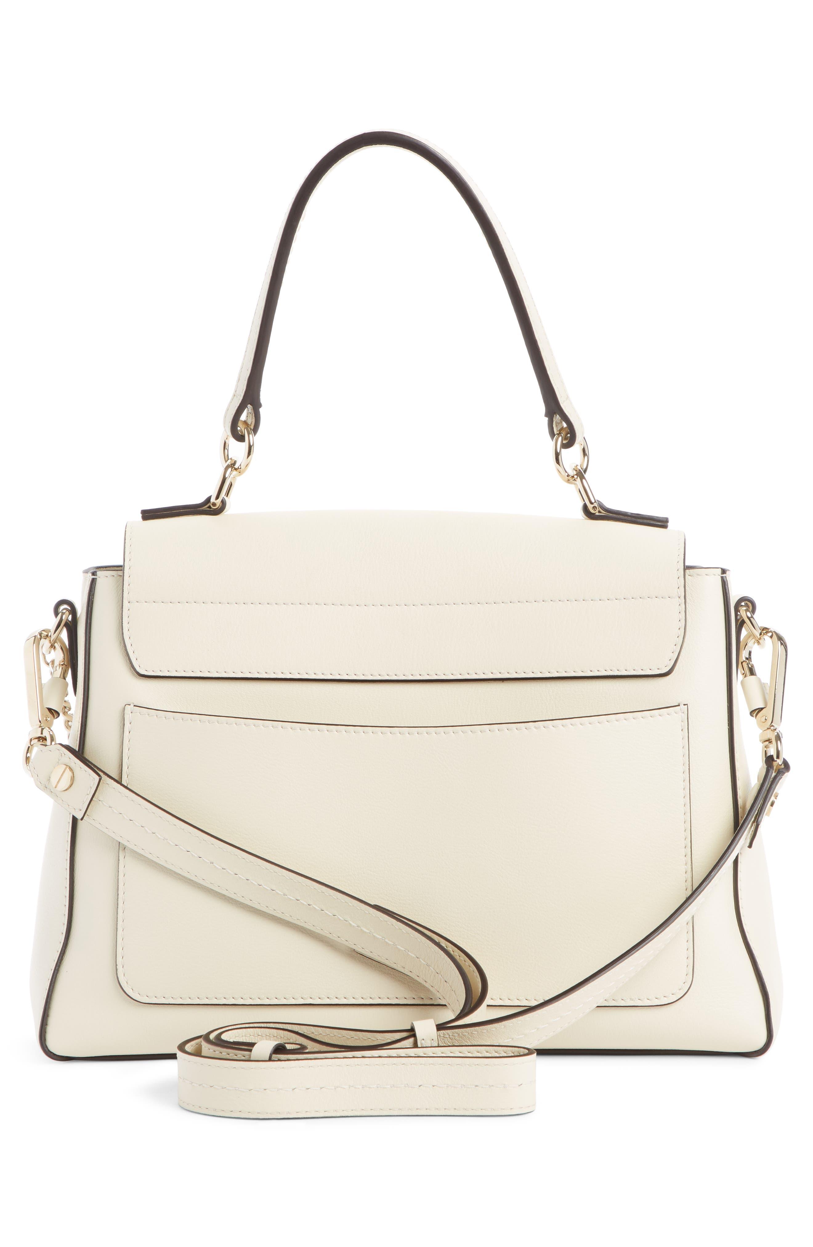 Mini Faye Day Leather Crossbody Bag,                             Alternate thumbnail 2, color,                             OFF WHITE