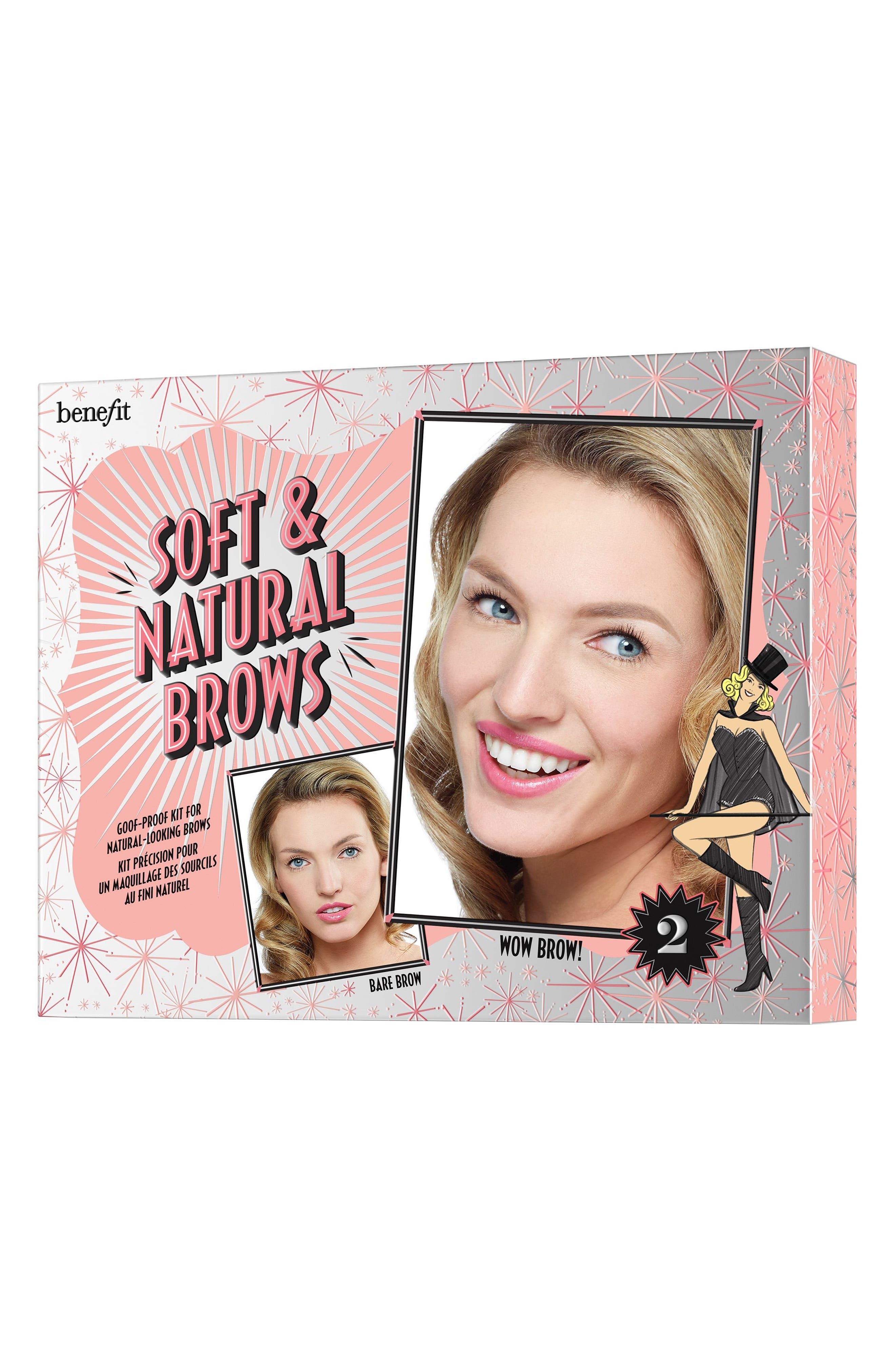 Benefit Soft & Natural Brows Kit,                             Alternate thumbnail 3, color,                             02 LIGHT