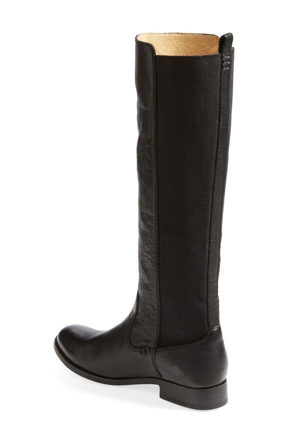 'Molly' Gore Leather Boot,                             Alternate thumbnail 6, color,                             001