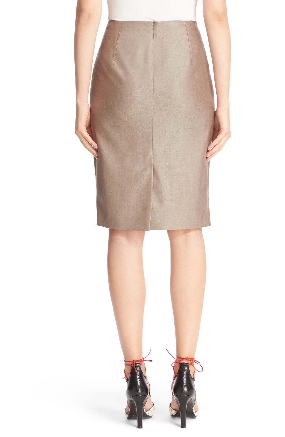 Wool Blend Pencil Skirt,                             Alternate thumbnail 6, color,                             220
