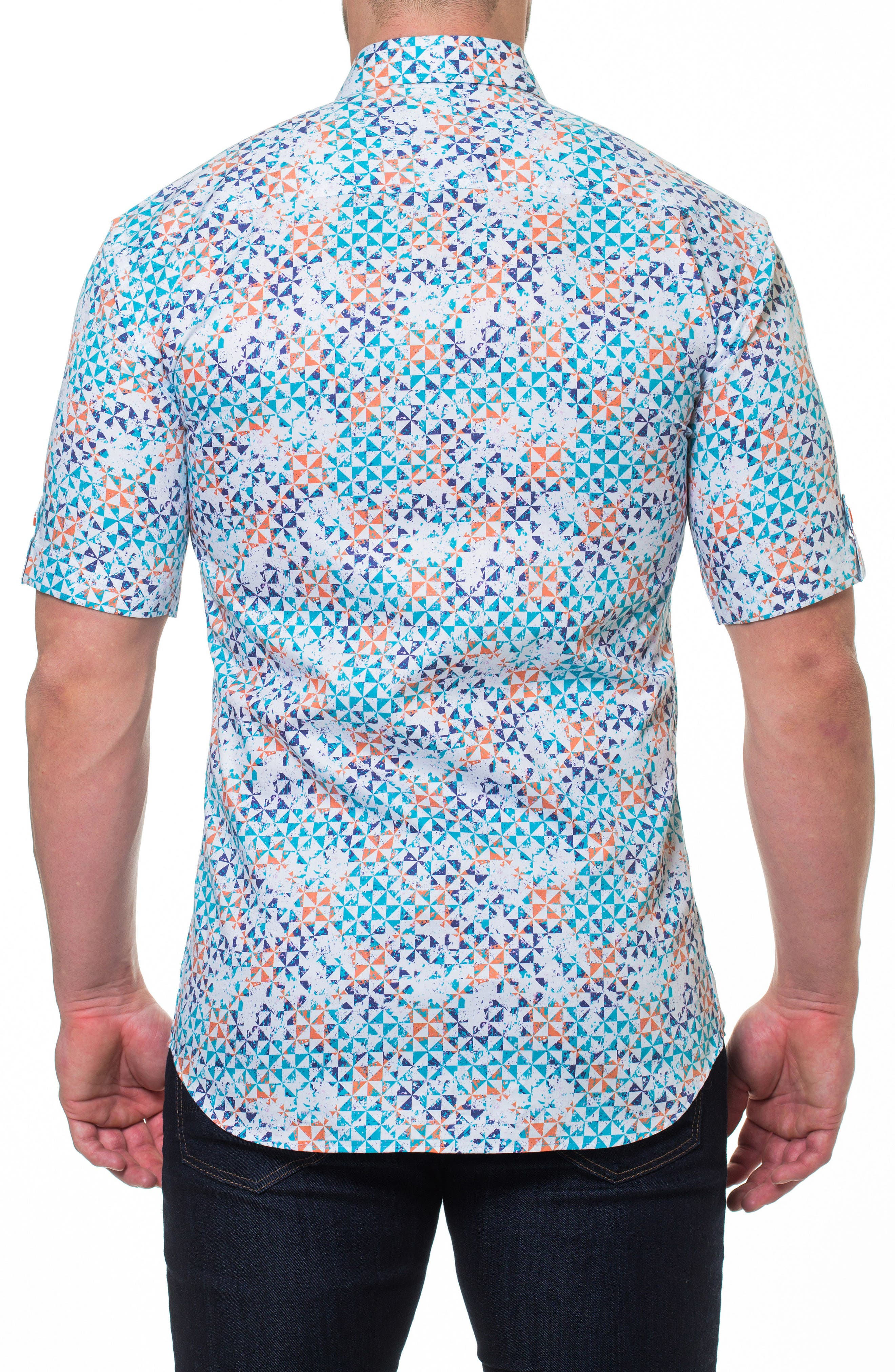 Fresh Circus Sport Shirt,                             Alternate thumbnail 2, color,                             WHITE
