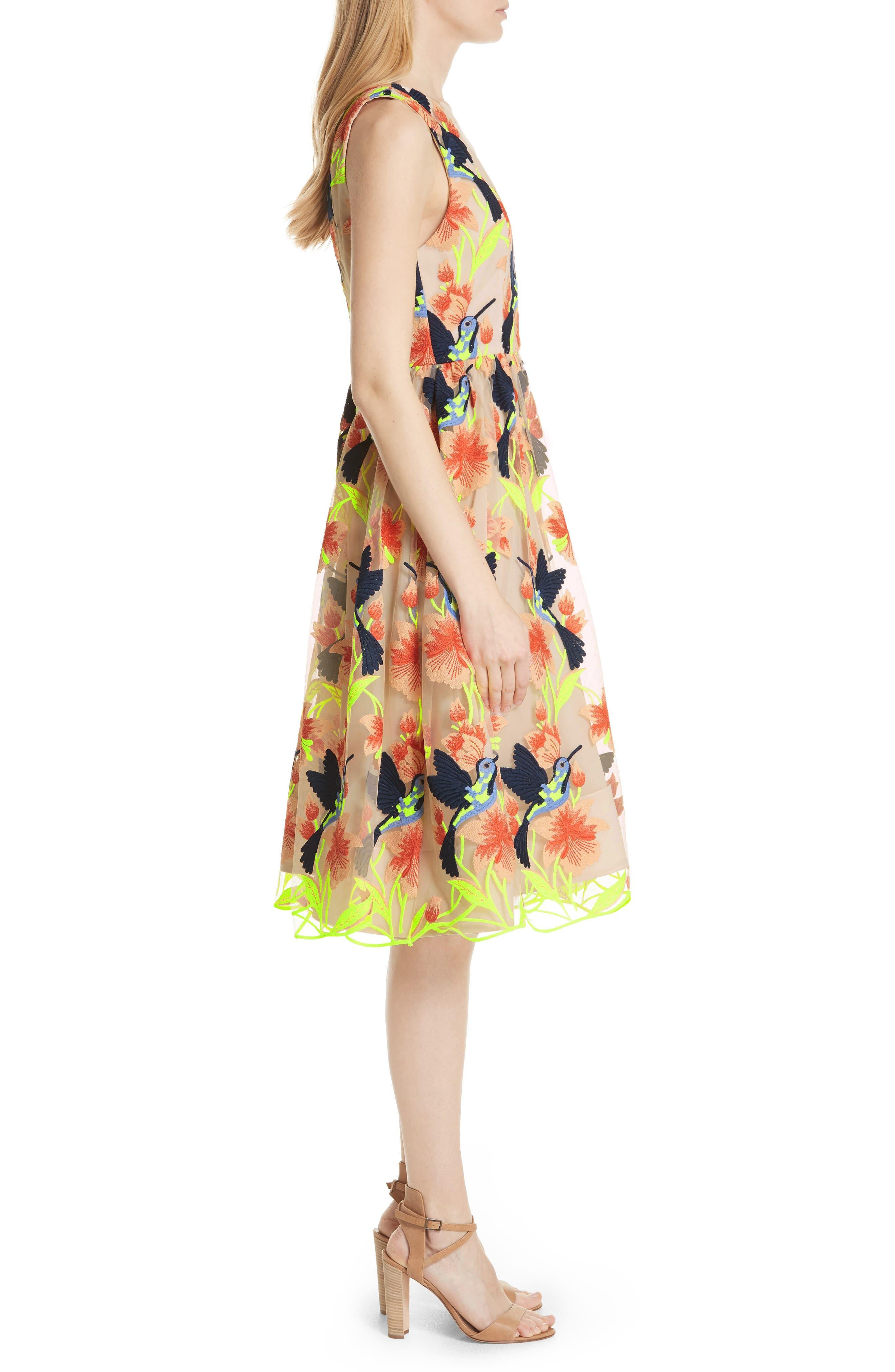 Becca Hummingbird Dress,                             Alternate thumbnail 3, color,                             260