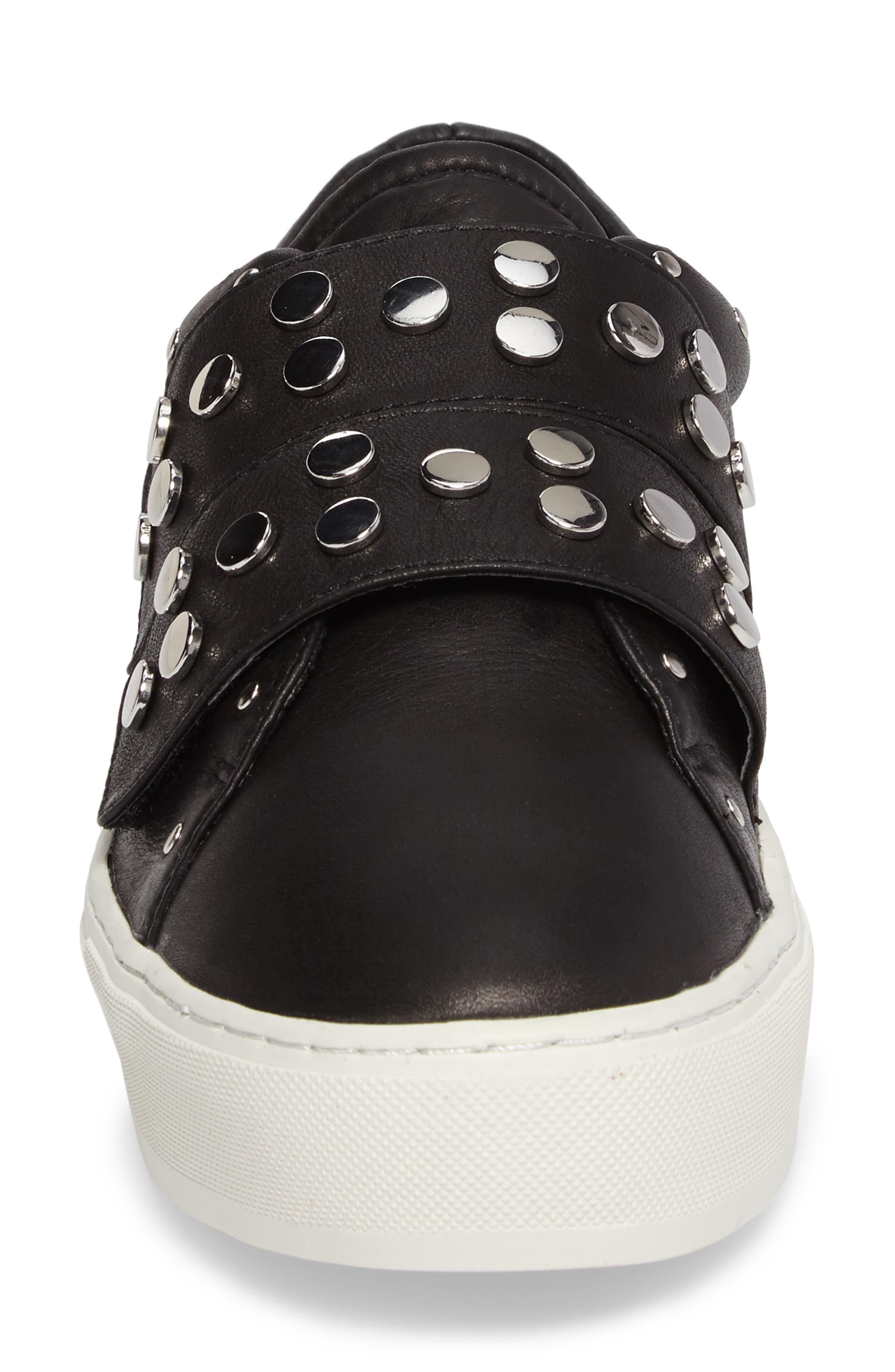 Natasha Studded Platform Sneaker,                             Alternate thumbnail 4, color,                             001