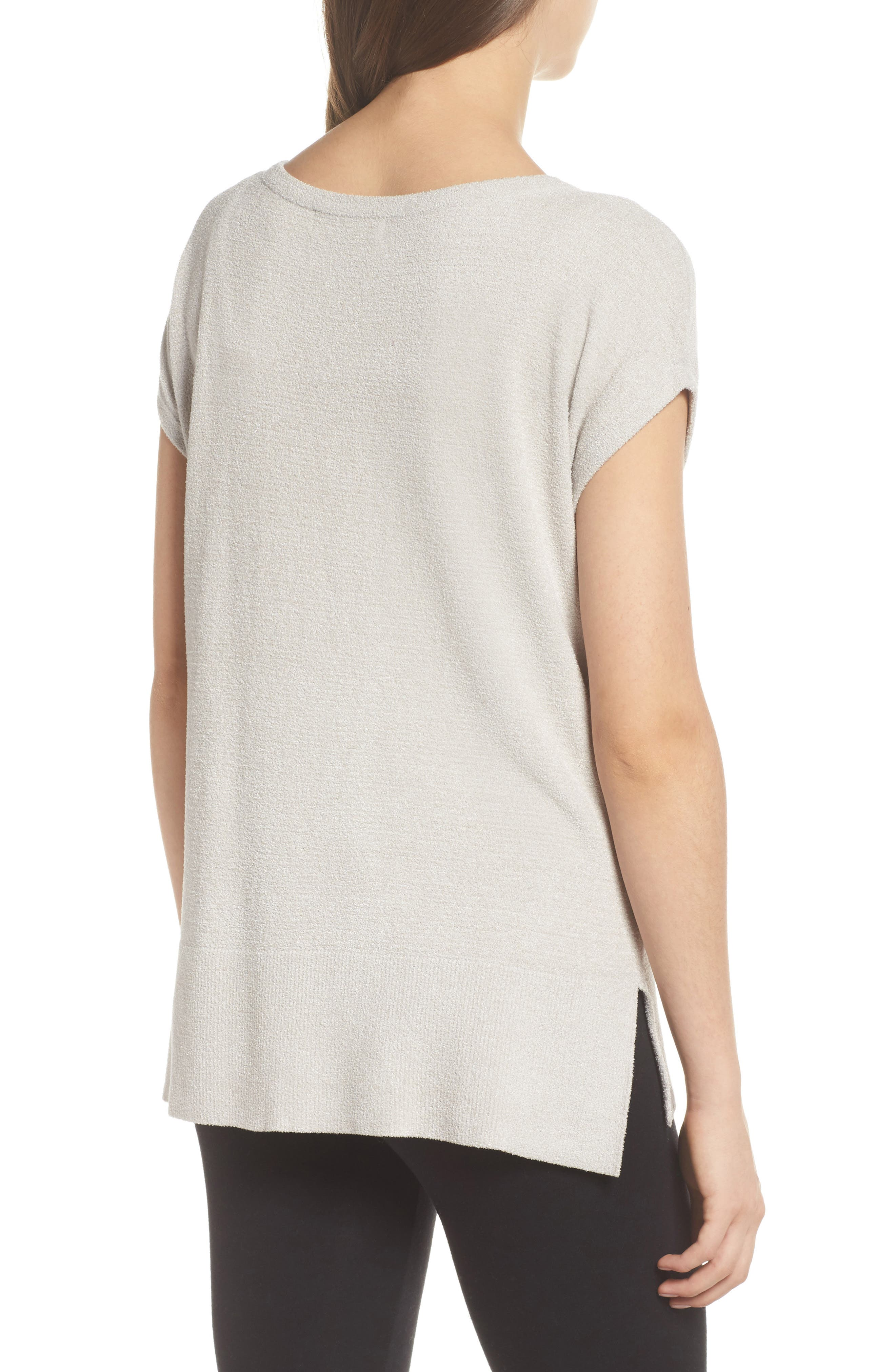 CozyChic Ultra Lite<sup>®</sup> Lounge Tee,                             Alternate thumbnail 2, color,                             FOG GRAY