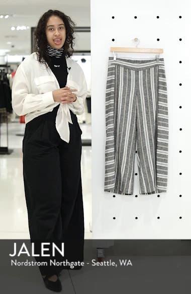 Stripe Linen Blend Pants, sales video thumbnail