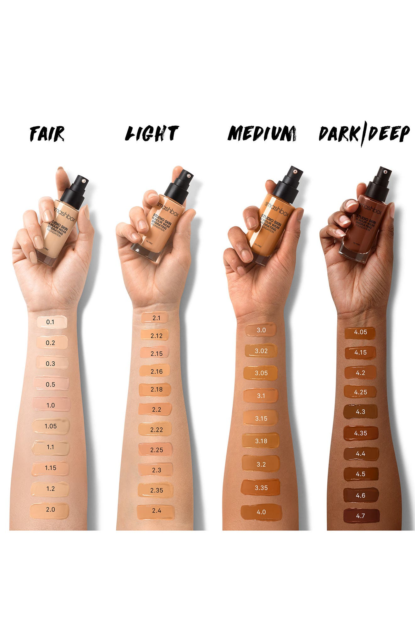 Studio Skin 15 Hour Wear Foundation,                             Alternate thumbnail 3, color,                             4.2 - DEEP WARM BROWN