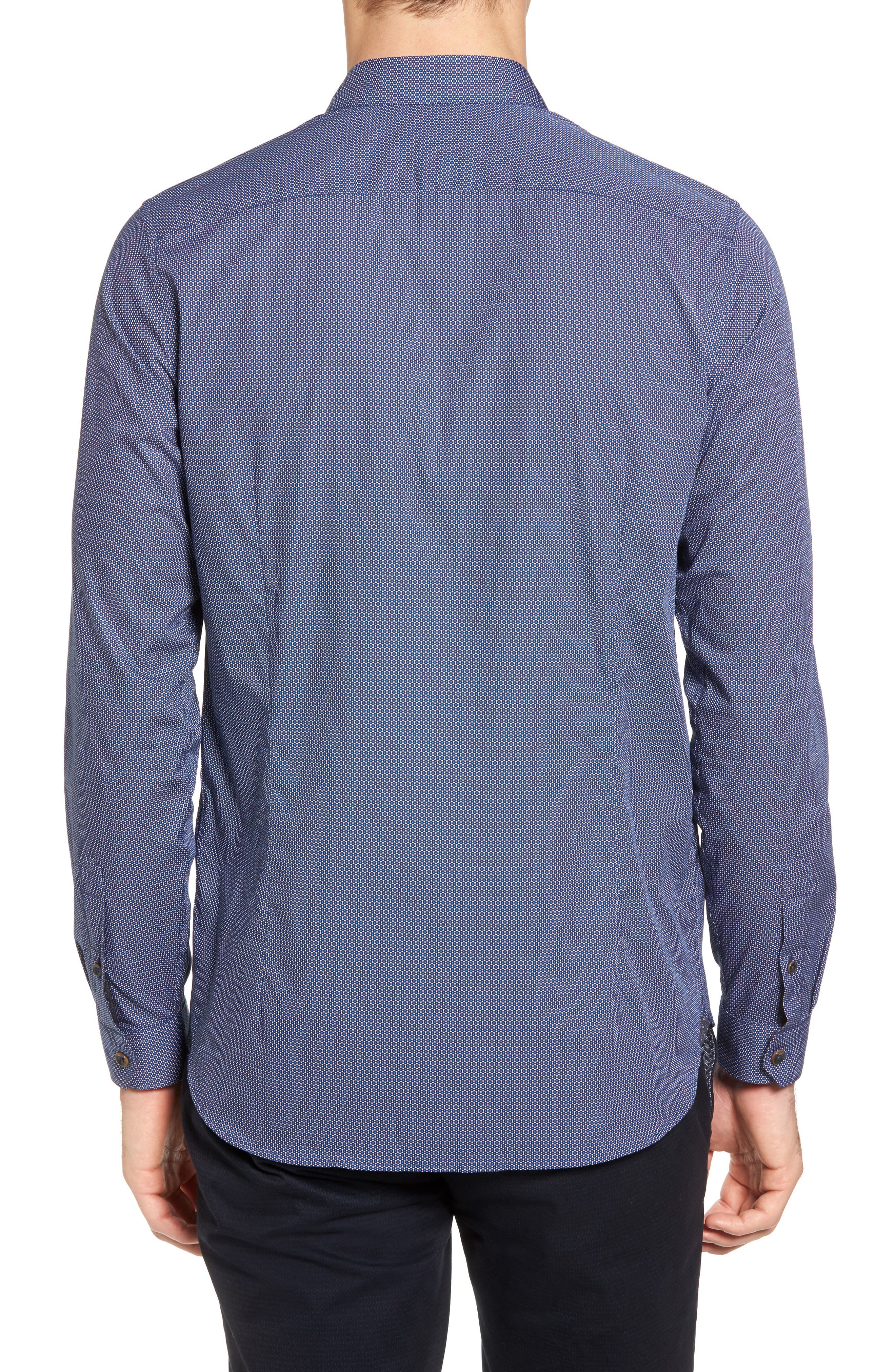 Merigeo Print Sport Shirt,                             Alternate thumbnail 2, color,                             410